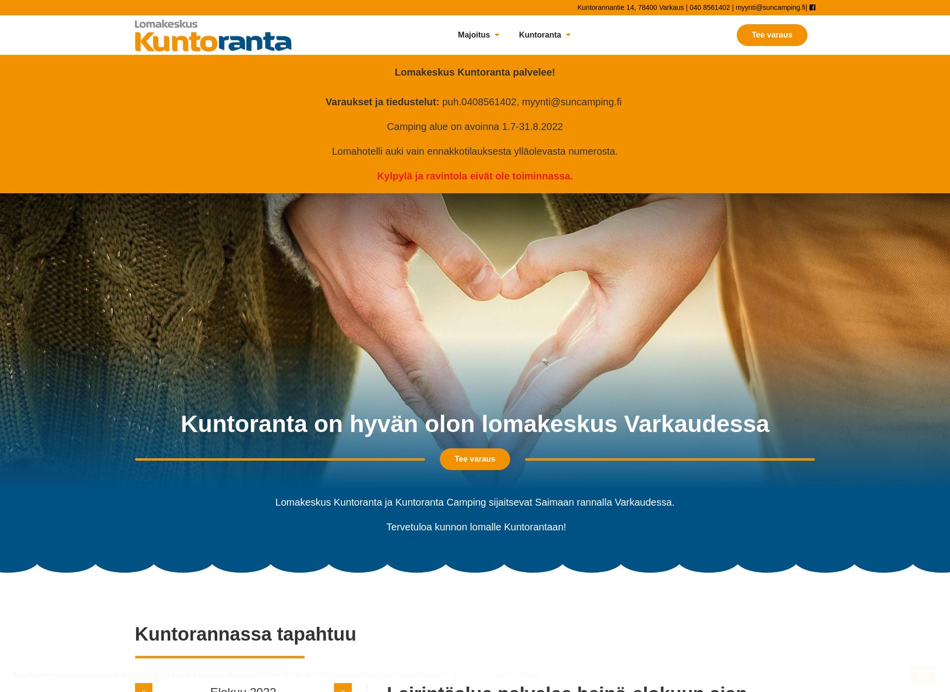 Screenshot for kuntoranta.fi