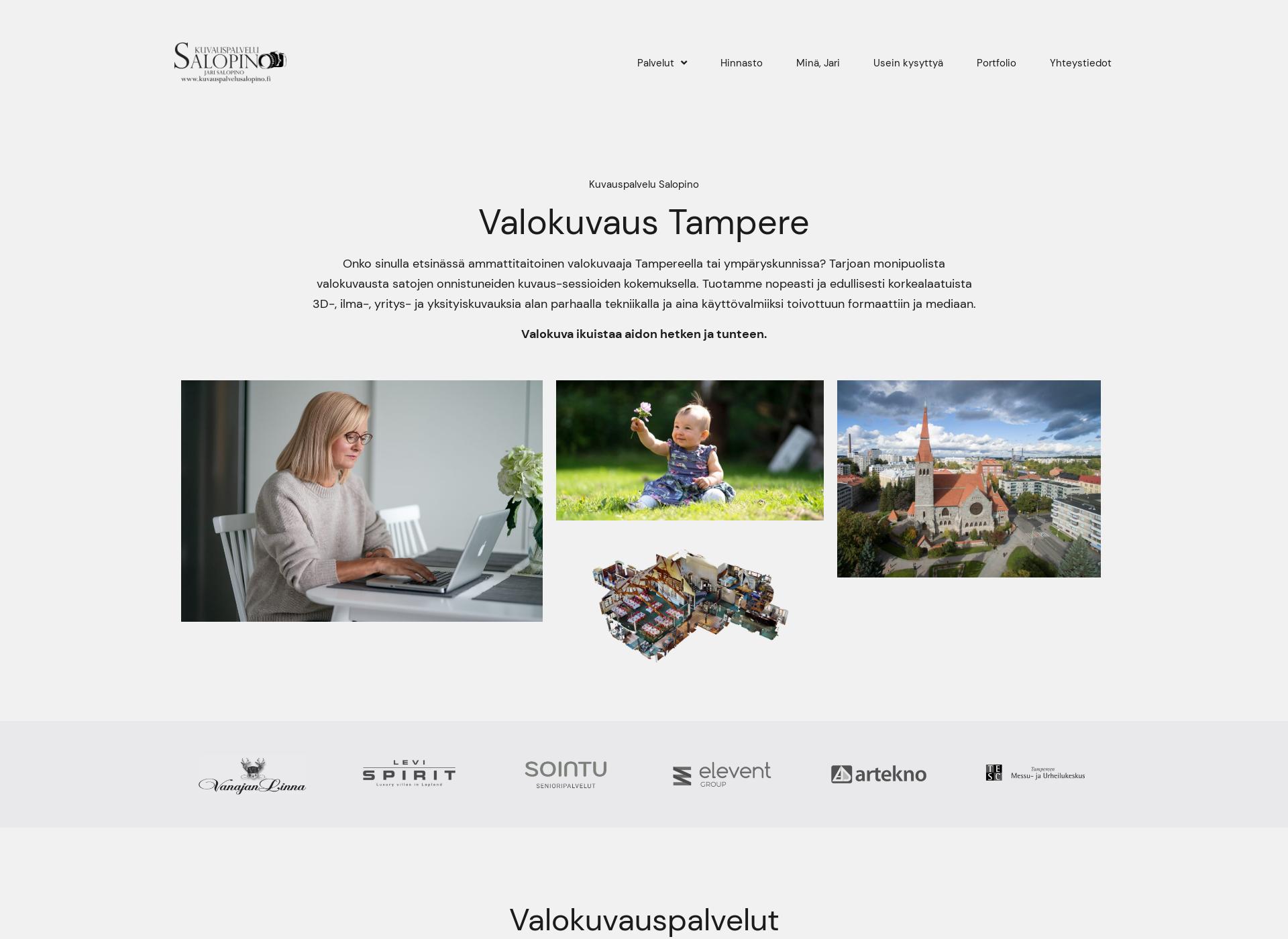 Screenshot for kuvauspalvelusalopino.fi