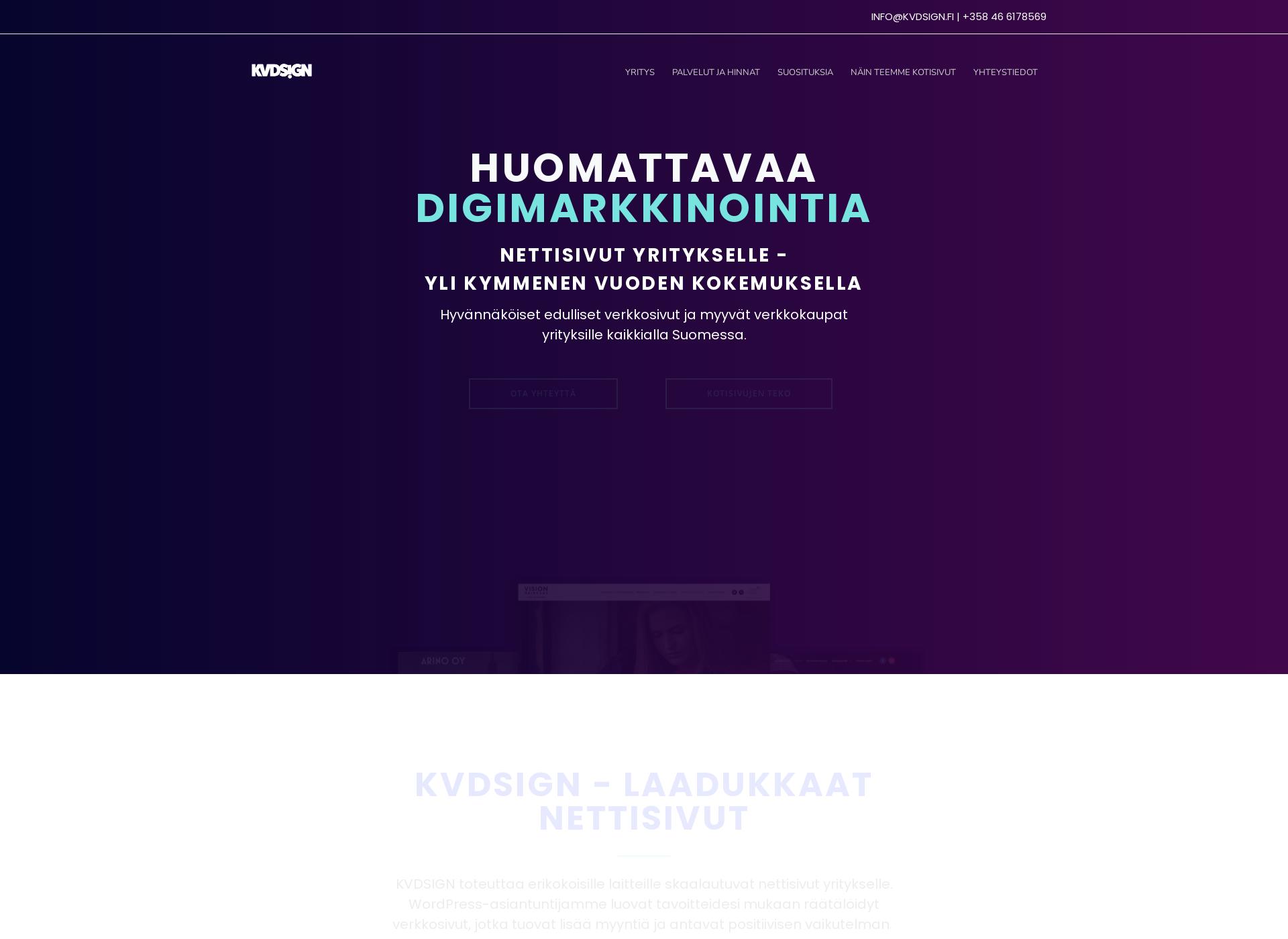 Screenshot for kvdsign.fi