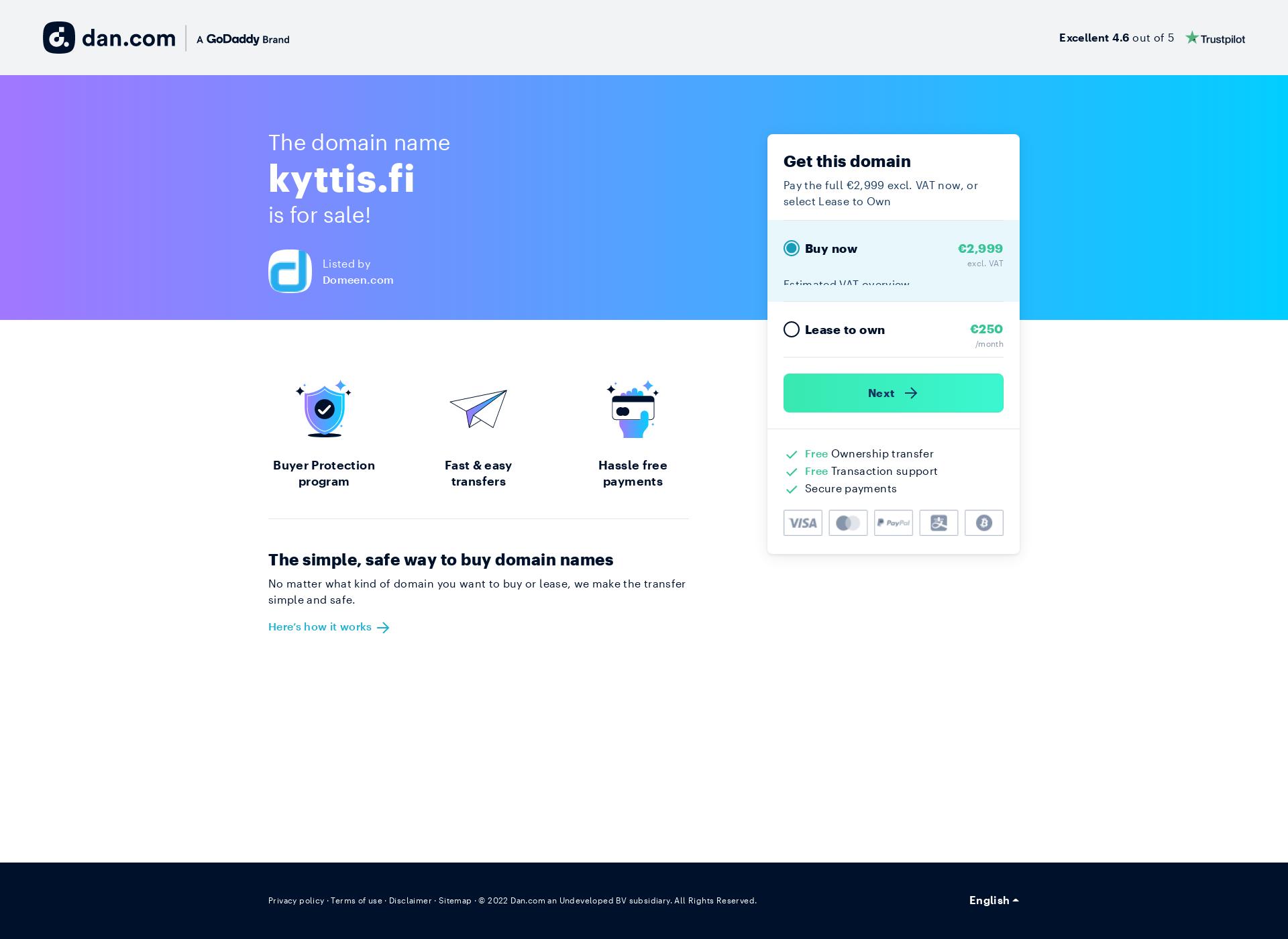Screenshot for kyttis.fi