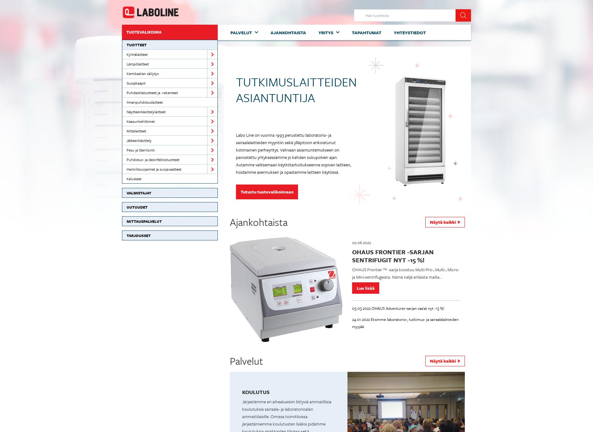 Screenshot for laboline.fi