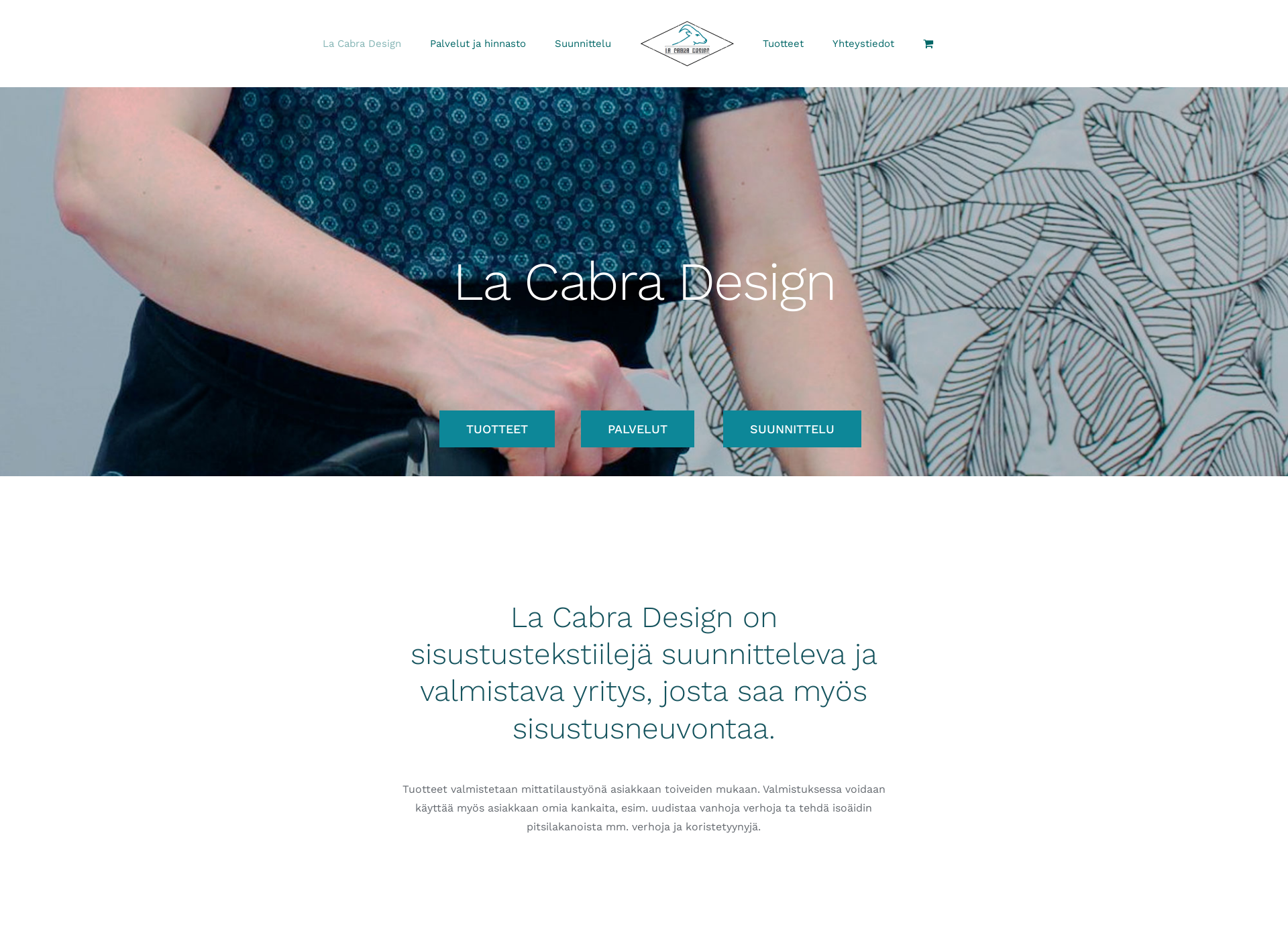 Skärmdump för lacabradesign.fi