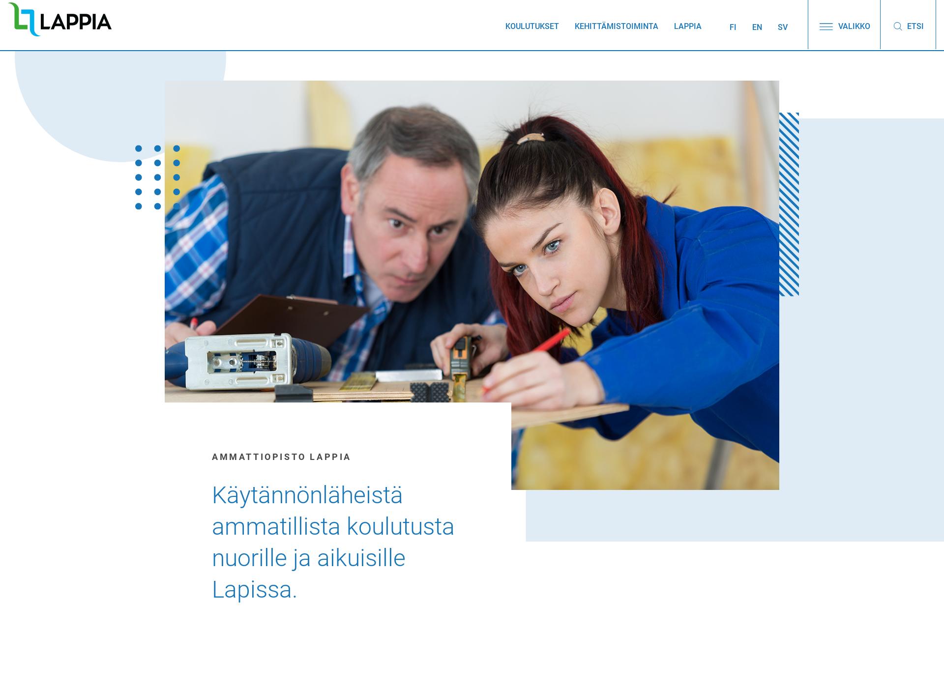 Screenshot for lappia.fi