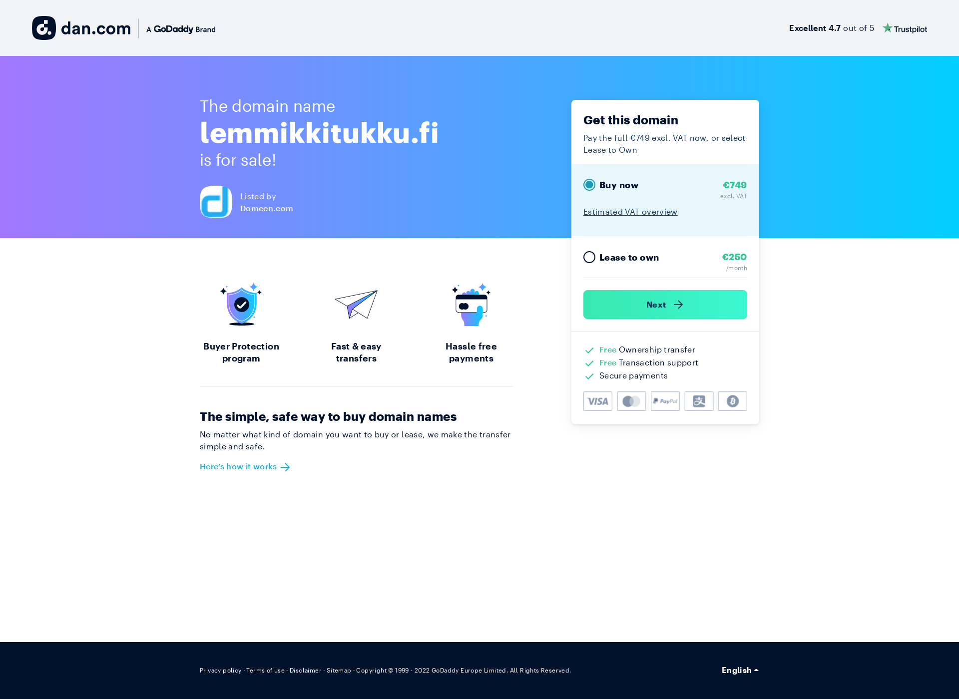 Screenshot for lemmikkitukku.fi