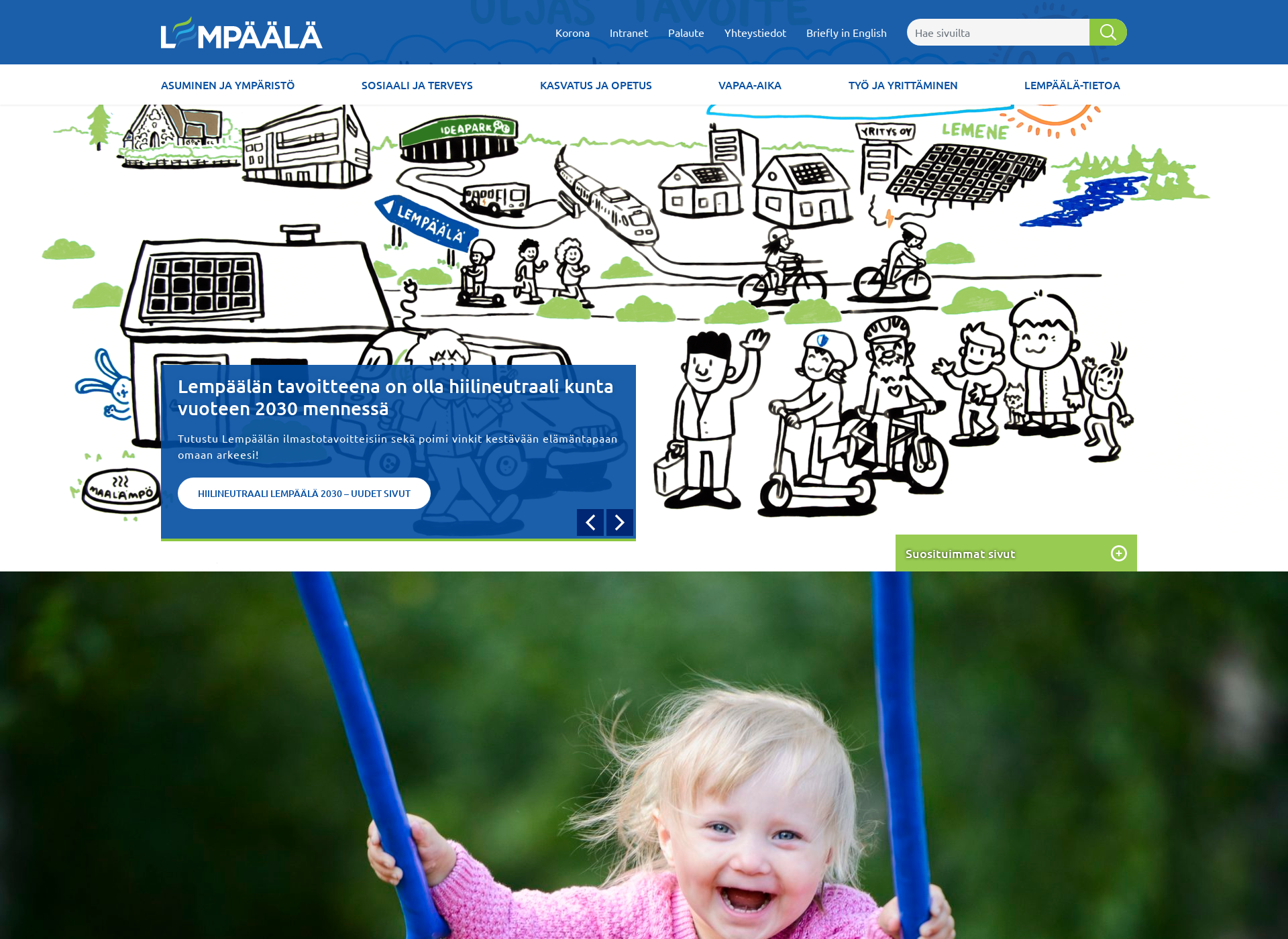 Screenshot for lempaala.fi