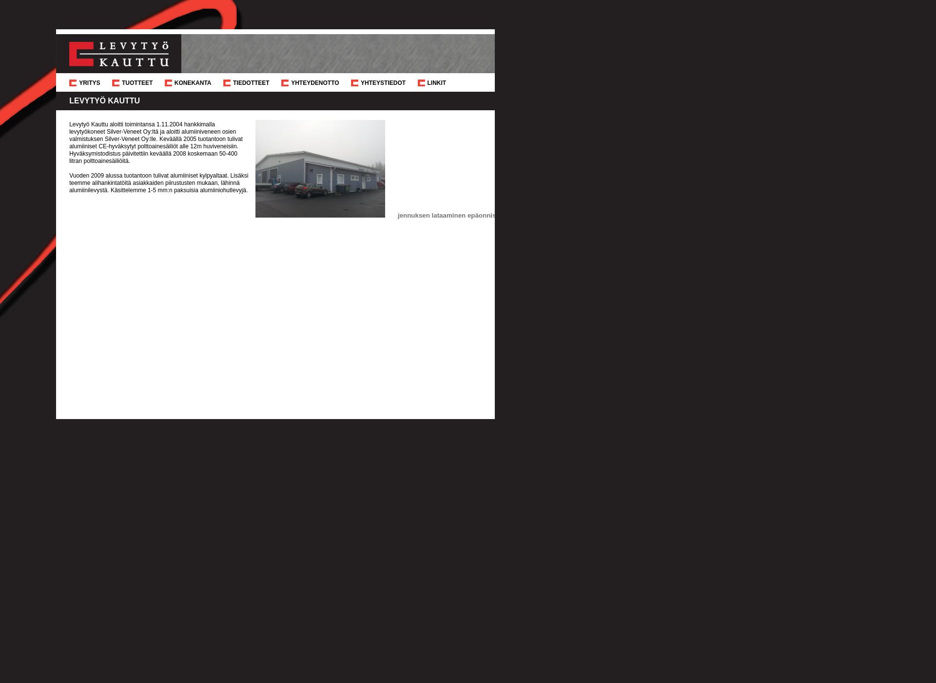 Screenshot for levytyokauttu.fi