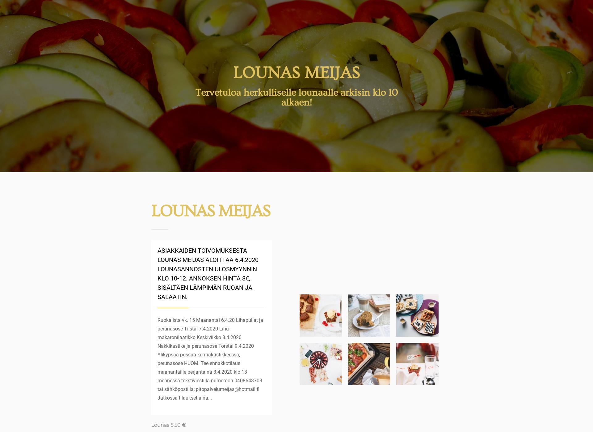 Screenshot for lounas-meijas.fi