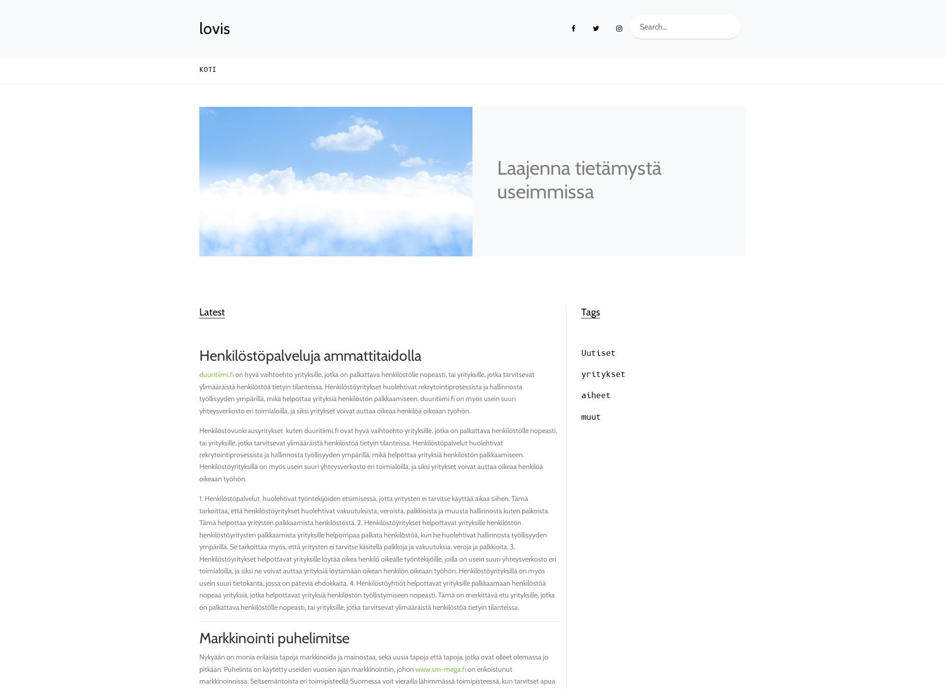 Screenshot for lovisasvenskaforsamling.fi