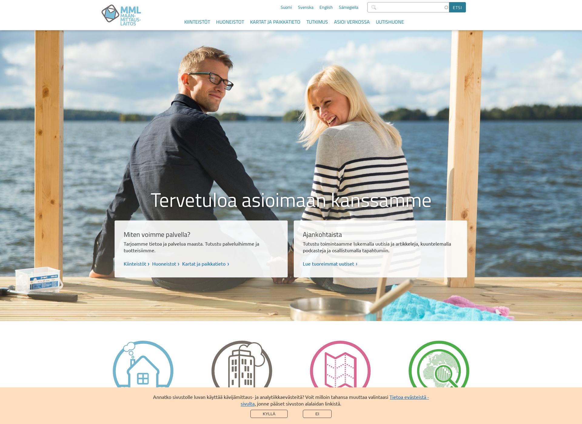 Screenshot for maanmittauslaitos.fi