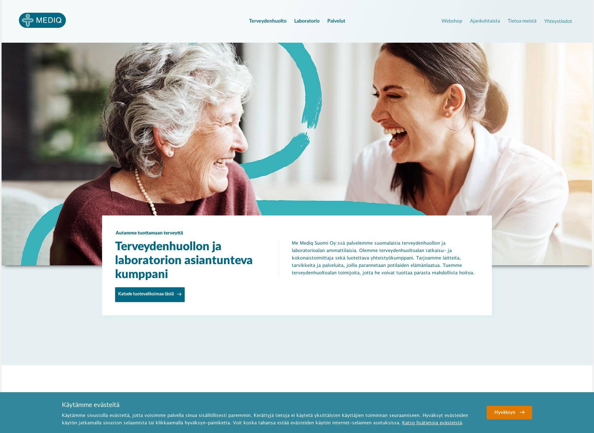 Screenshot for mediq.fi