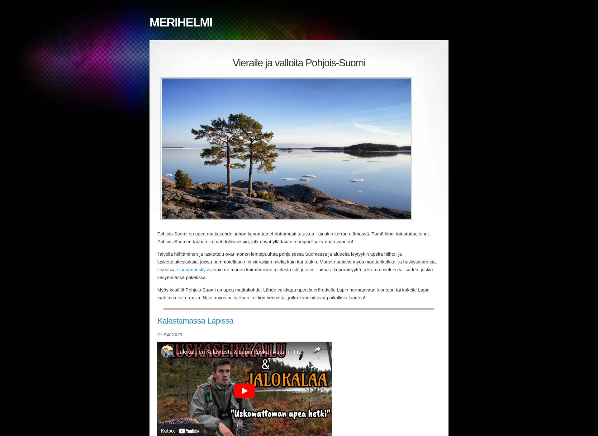 Screenshot for merihelmi.fi
