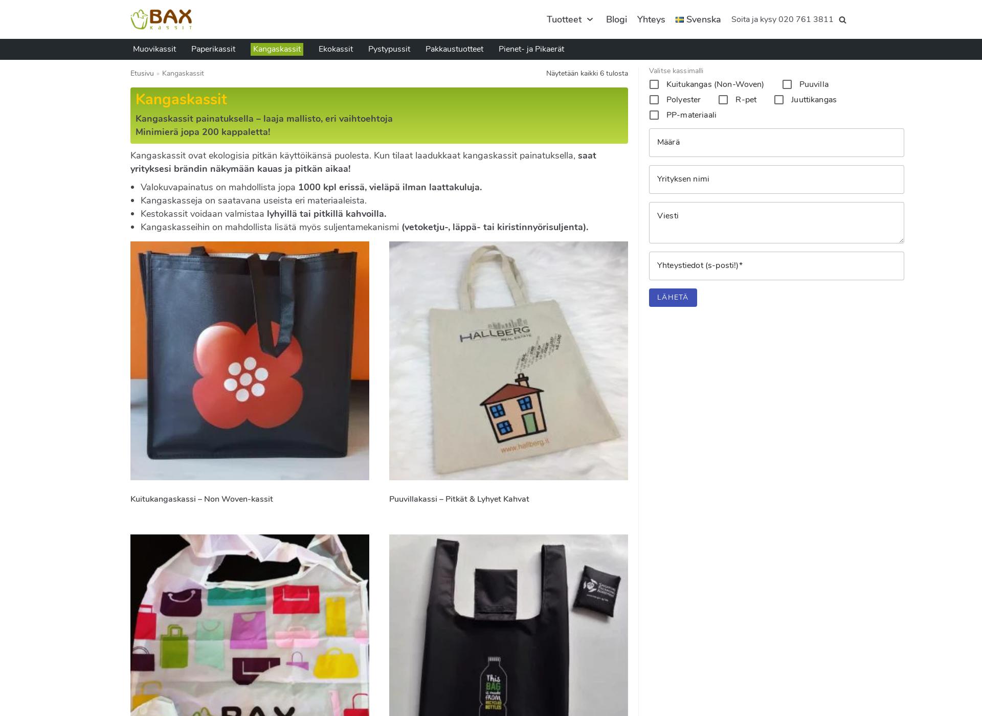 Screenshot for messukassi.fi