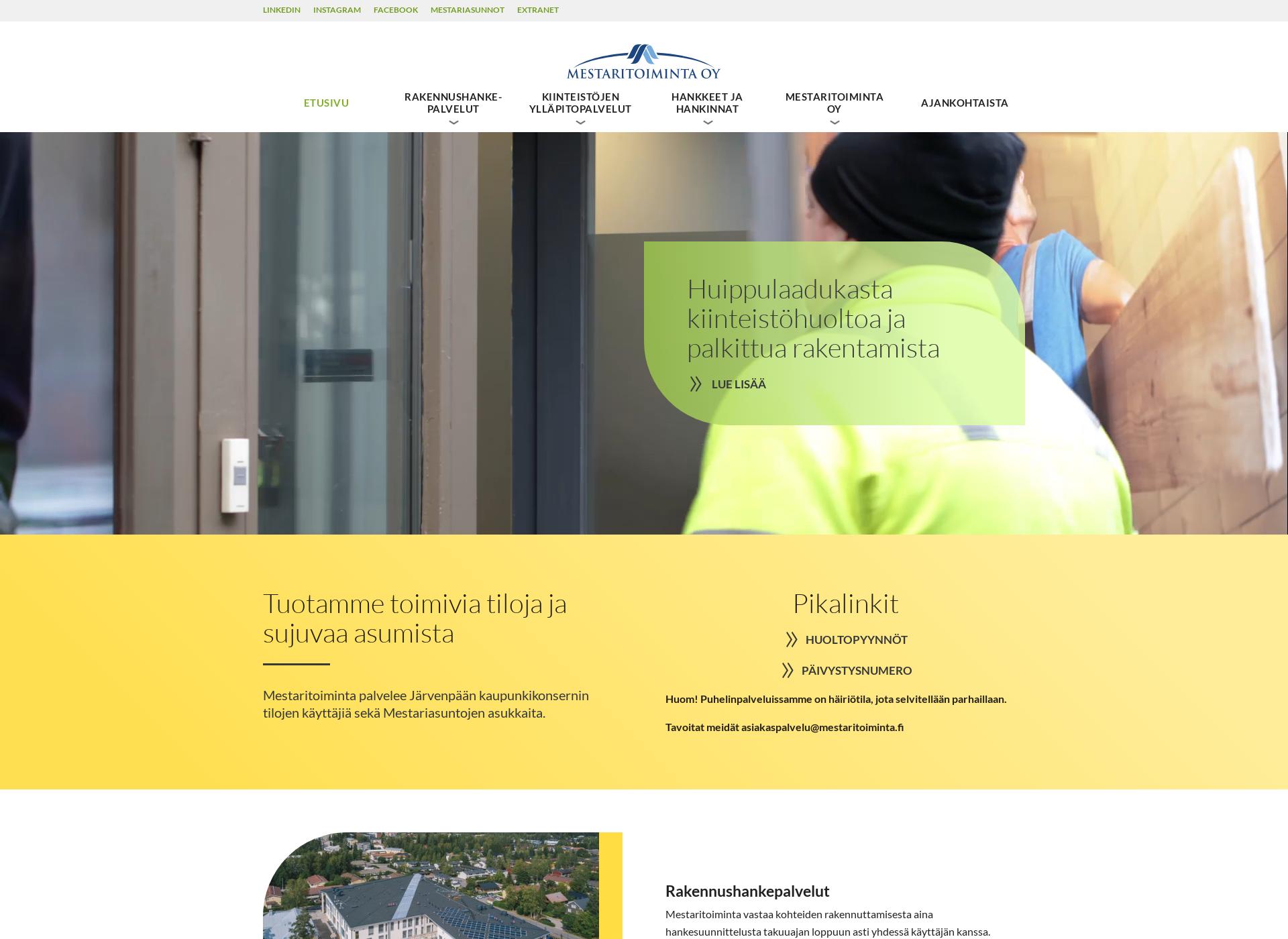 Screenshot for mestaritoiminta.fi