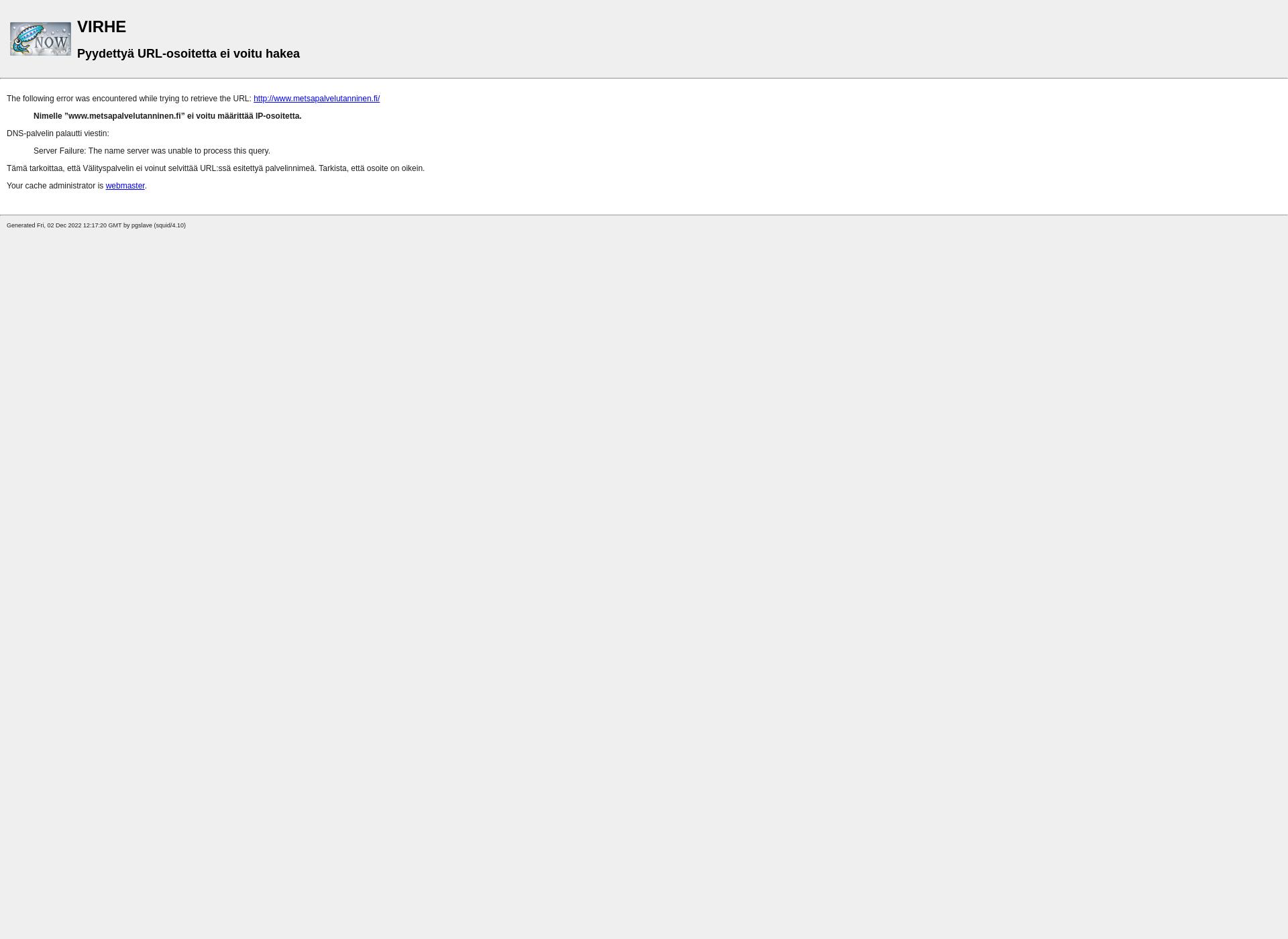 Screenshot for metsapalvelutanninen.fi