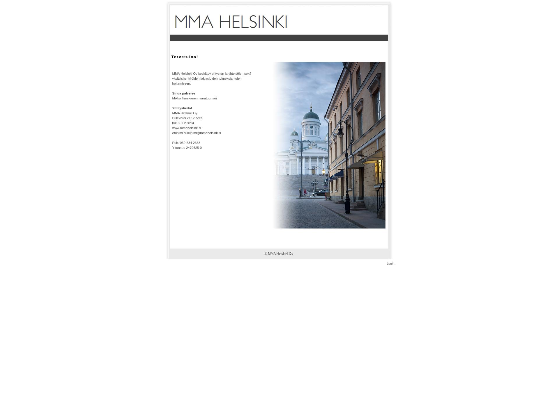 Screenshot for mmahelsinki.fi