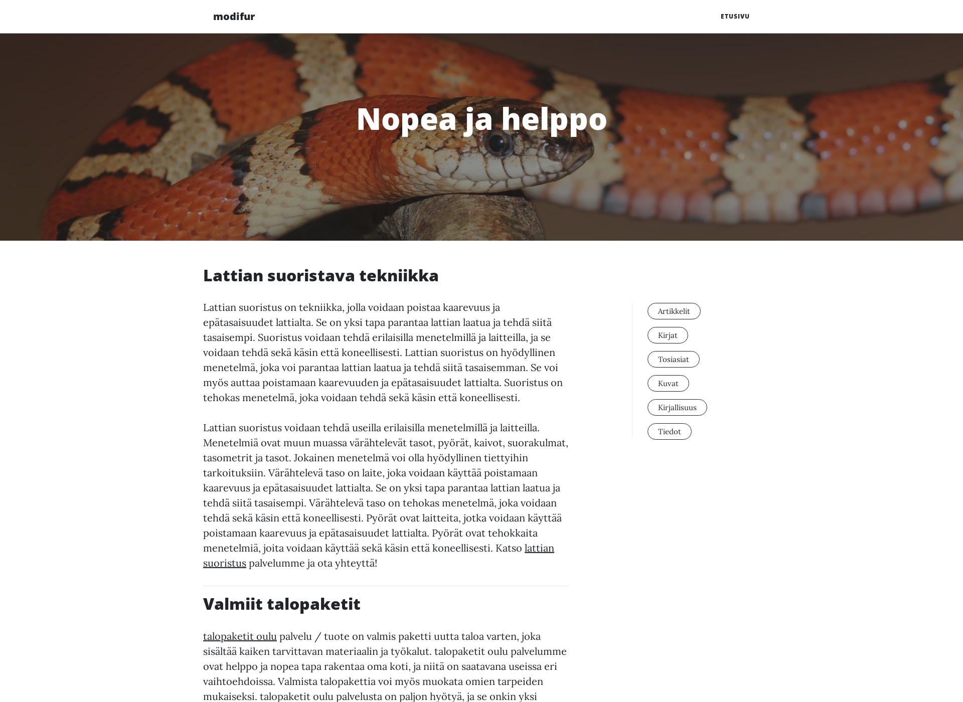 Screenshot for modifur.fi