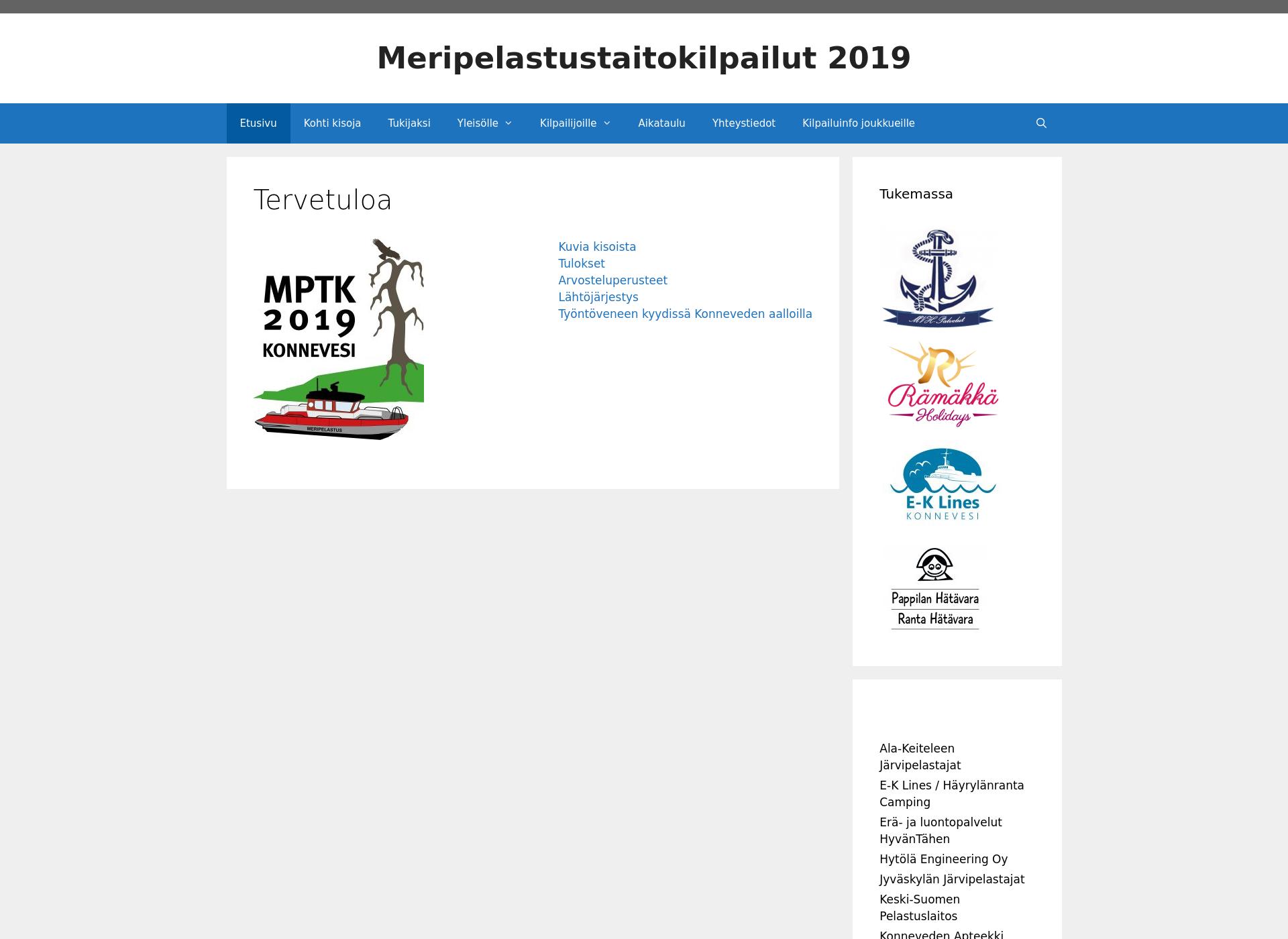 Screenshot for mptk2019.fi