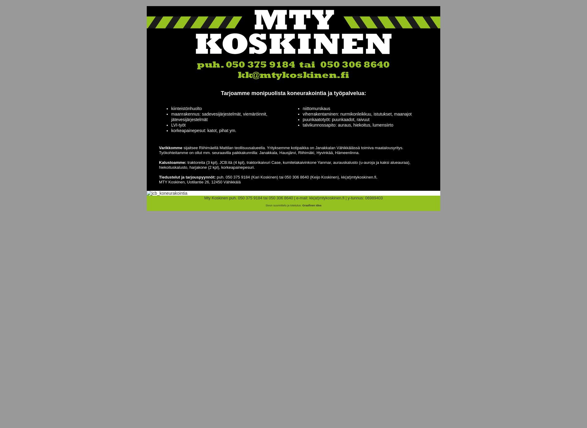 Screenshot for mtykoskinen.fi