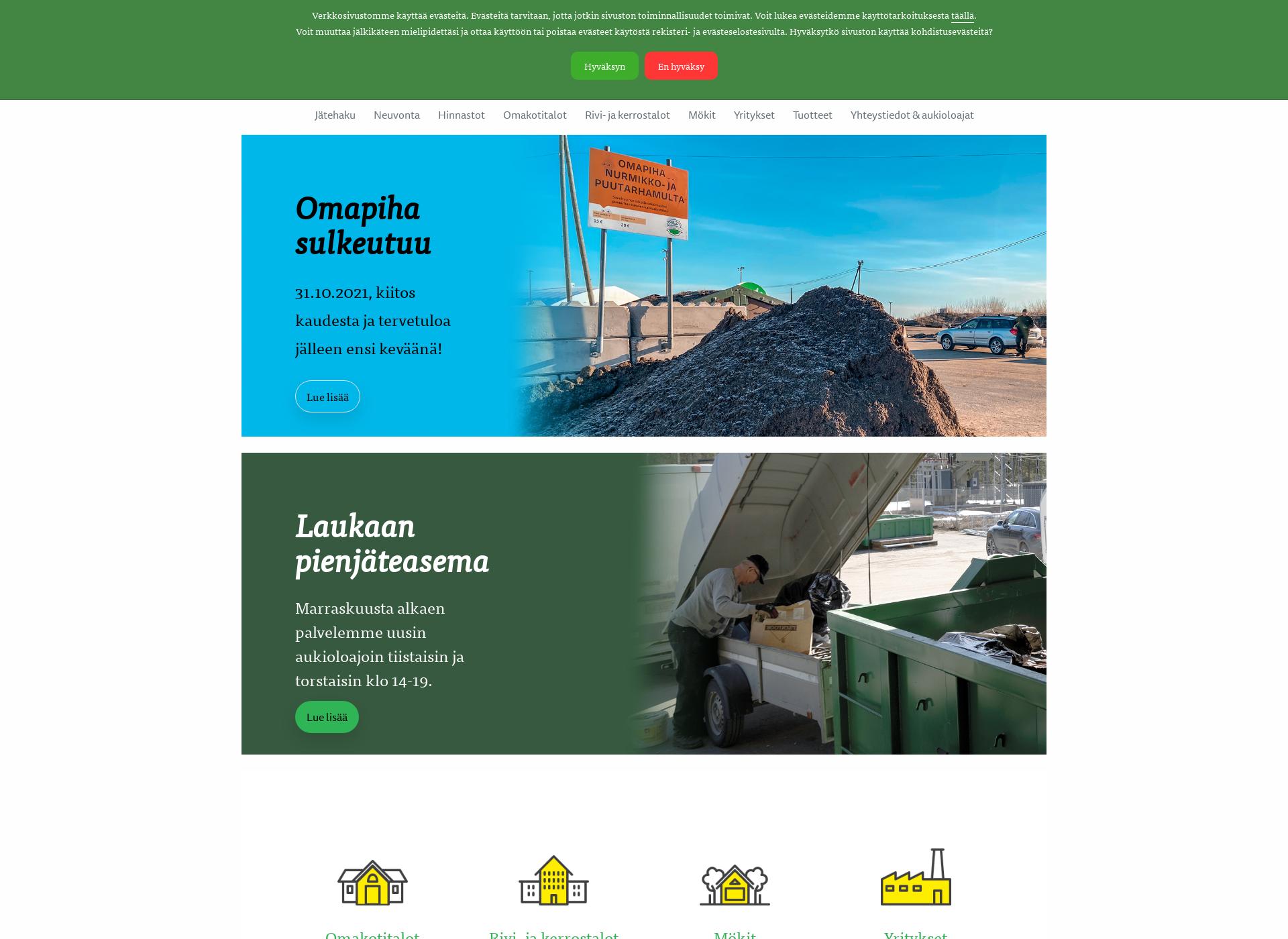 Screenshot for mustankorkea.fi