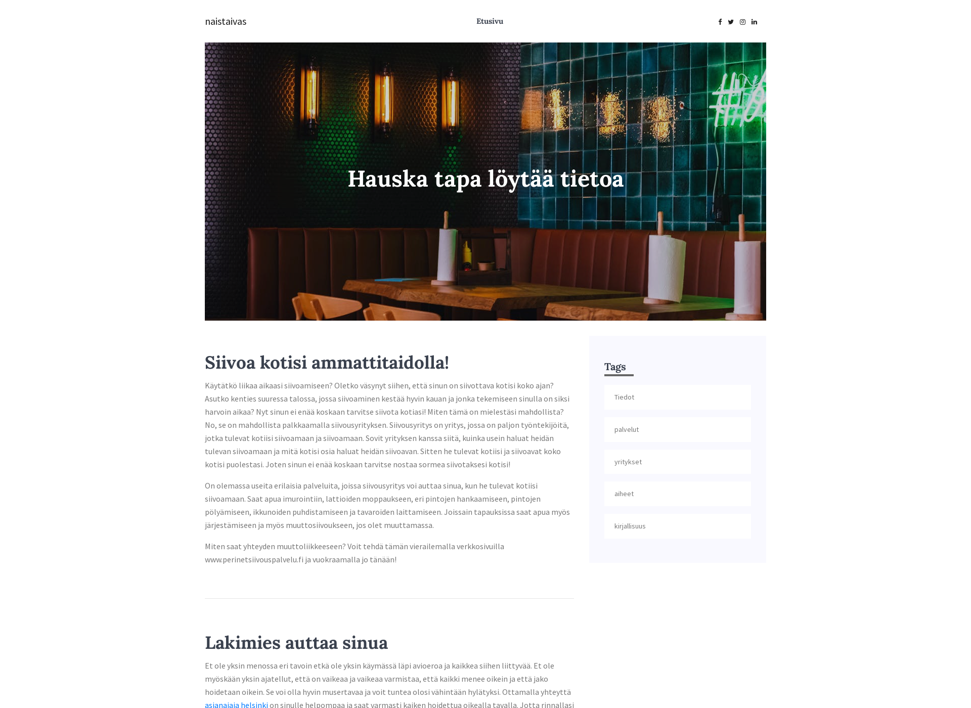 Screenshot for naistaivas.fi