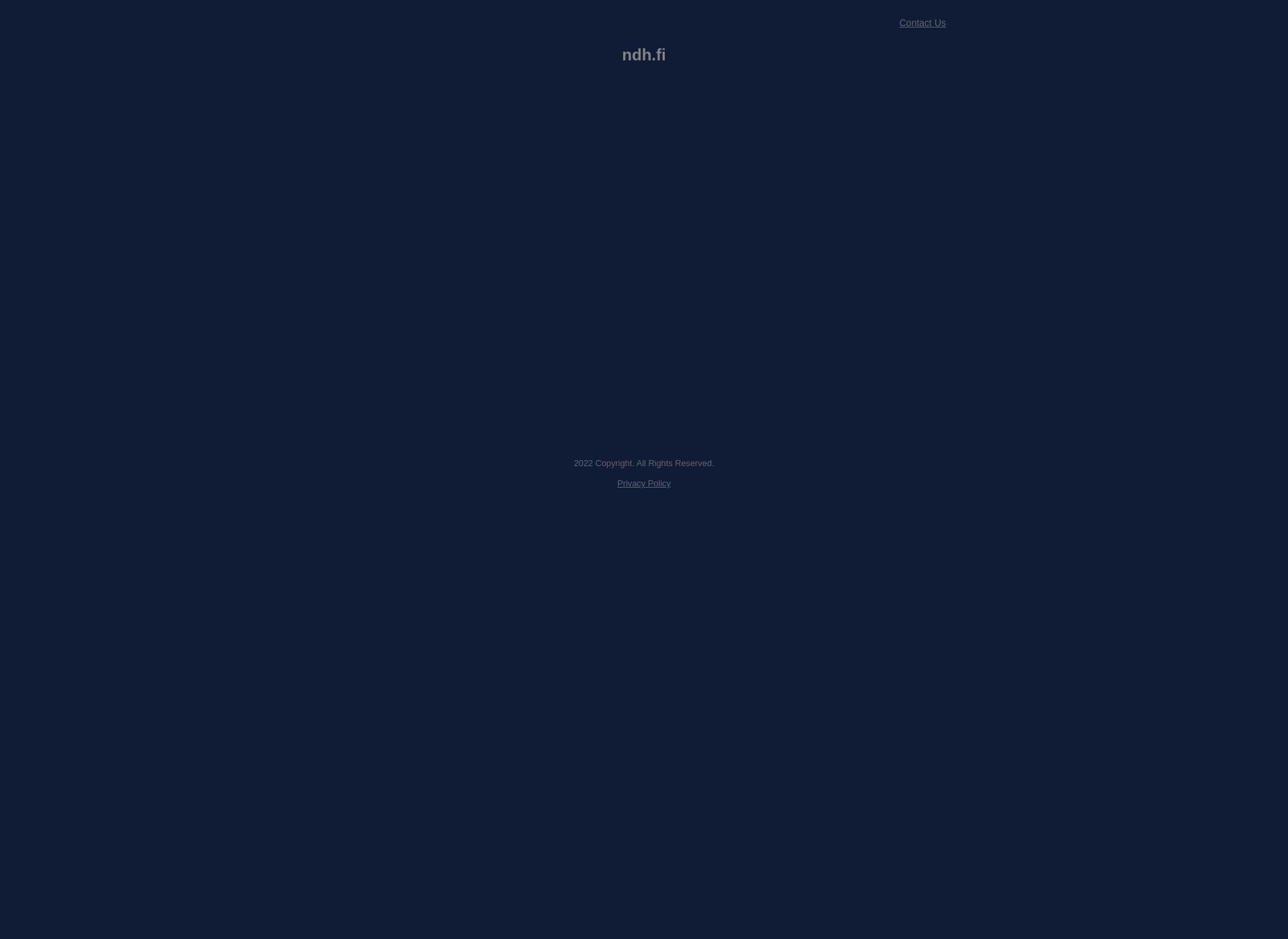Screenshot for ndh.fi