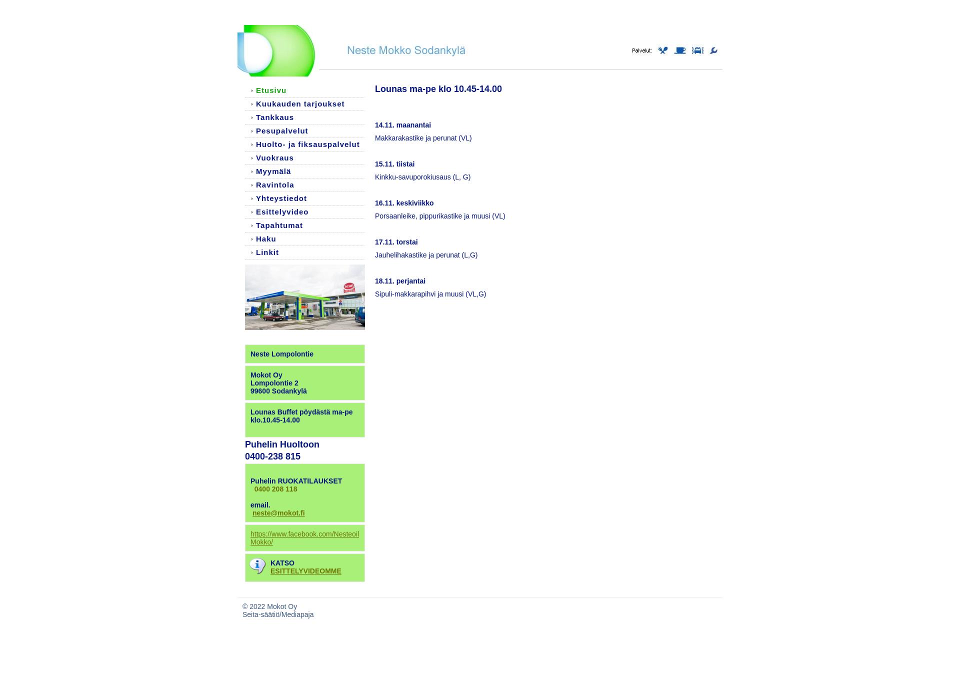 Screenshot for nestemokko.fi
