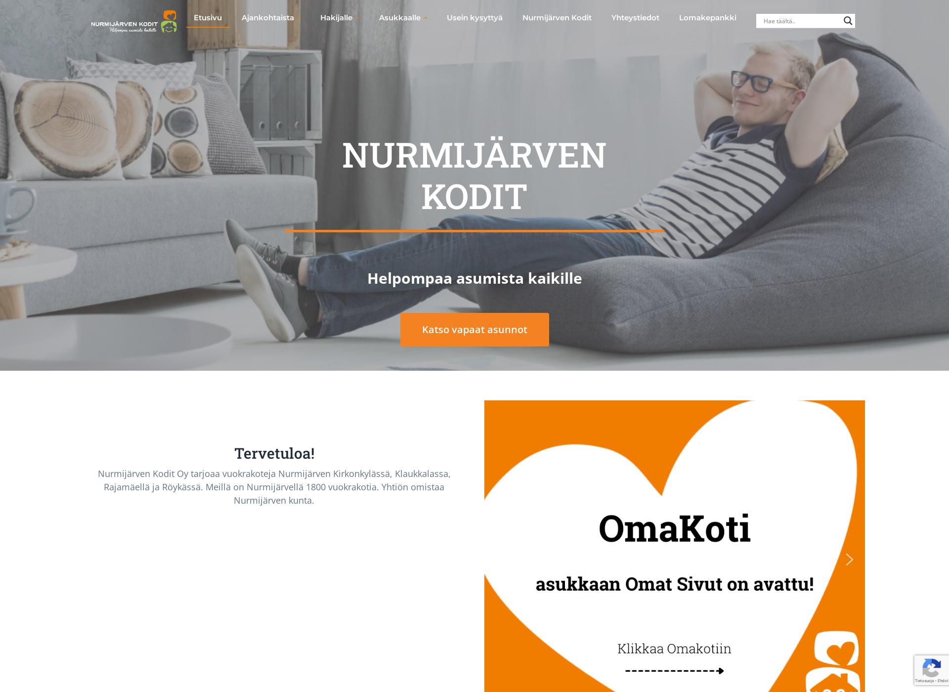 Screenshot for nurmijarvenkodit.fi