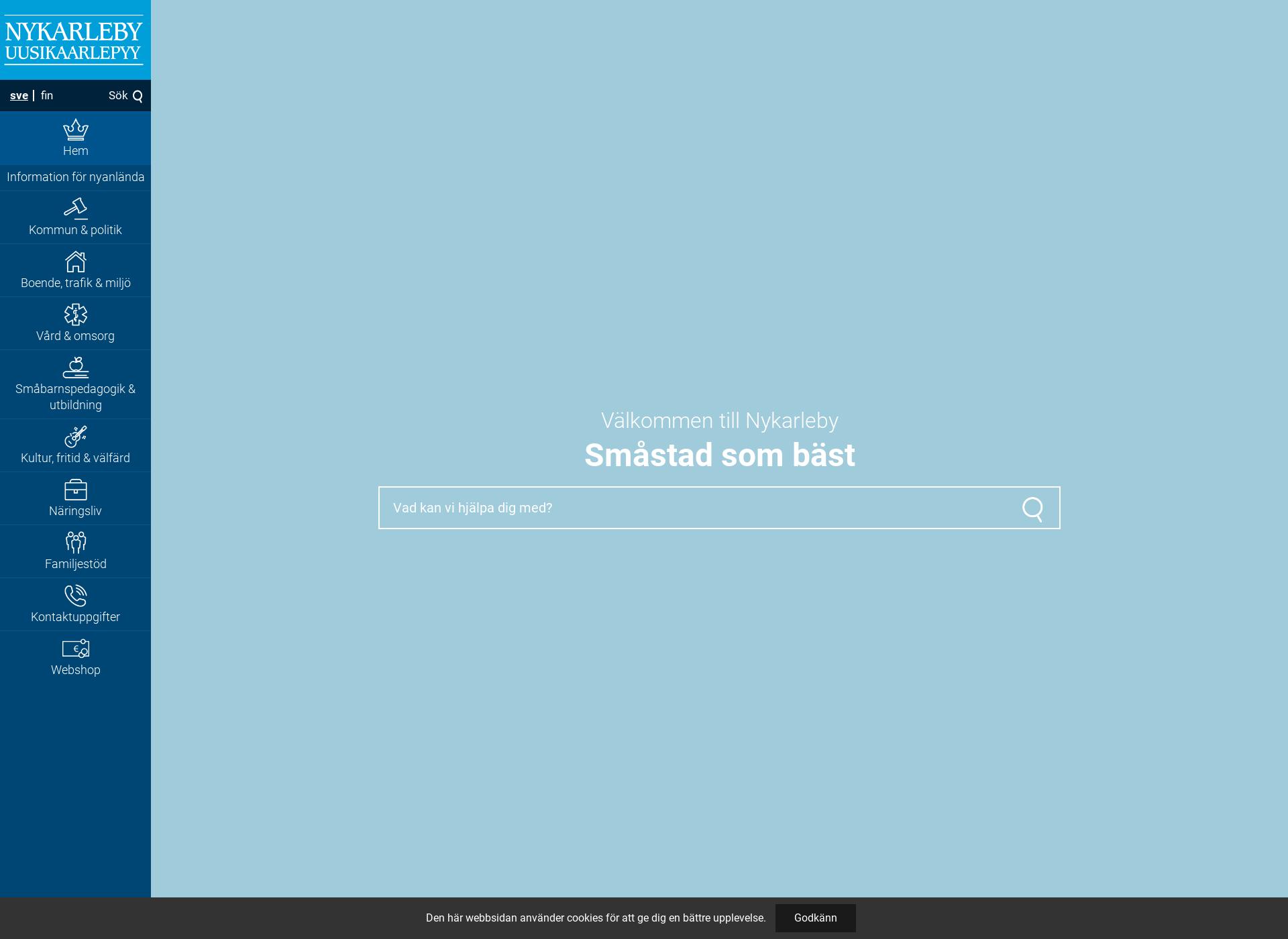 Screenshot for nykarleby.fi