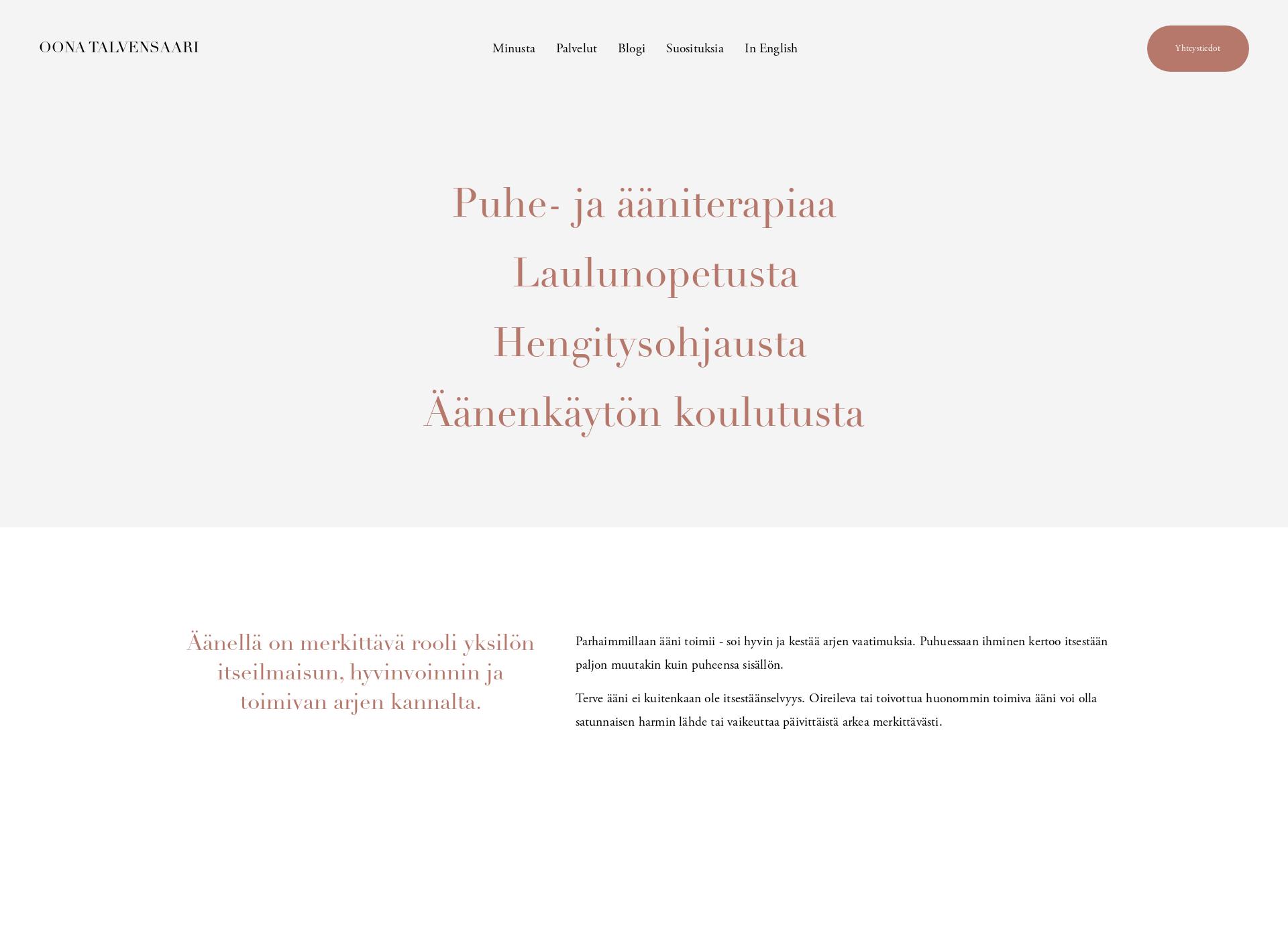 Screenshot for oonatalvensaari.fi