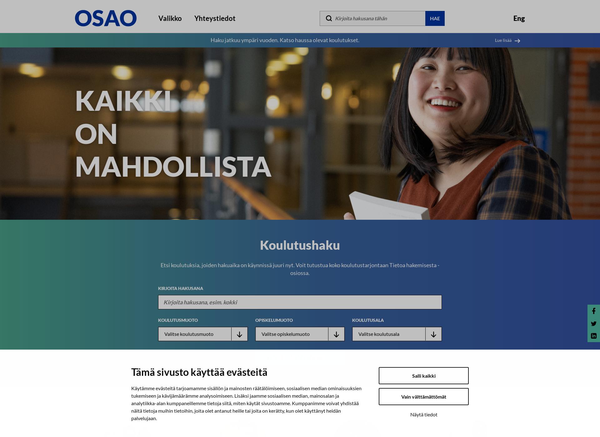 Screenshot for osao.fi