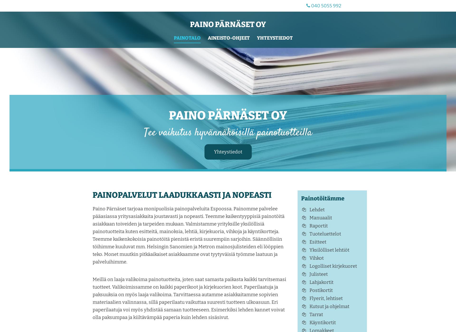 Screenshot for painoparnaset.fi