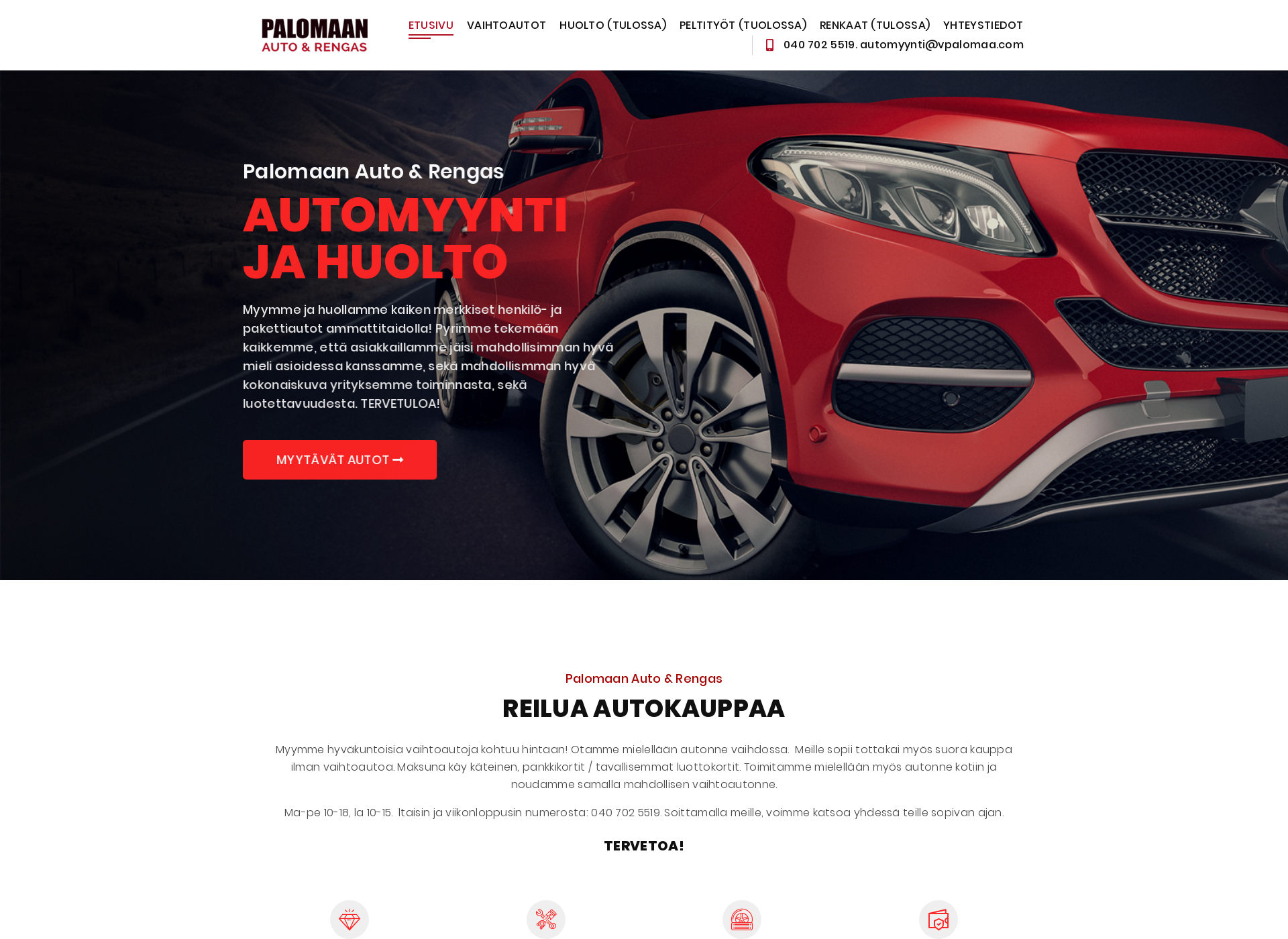 Screenshot for palomaanauto.fi