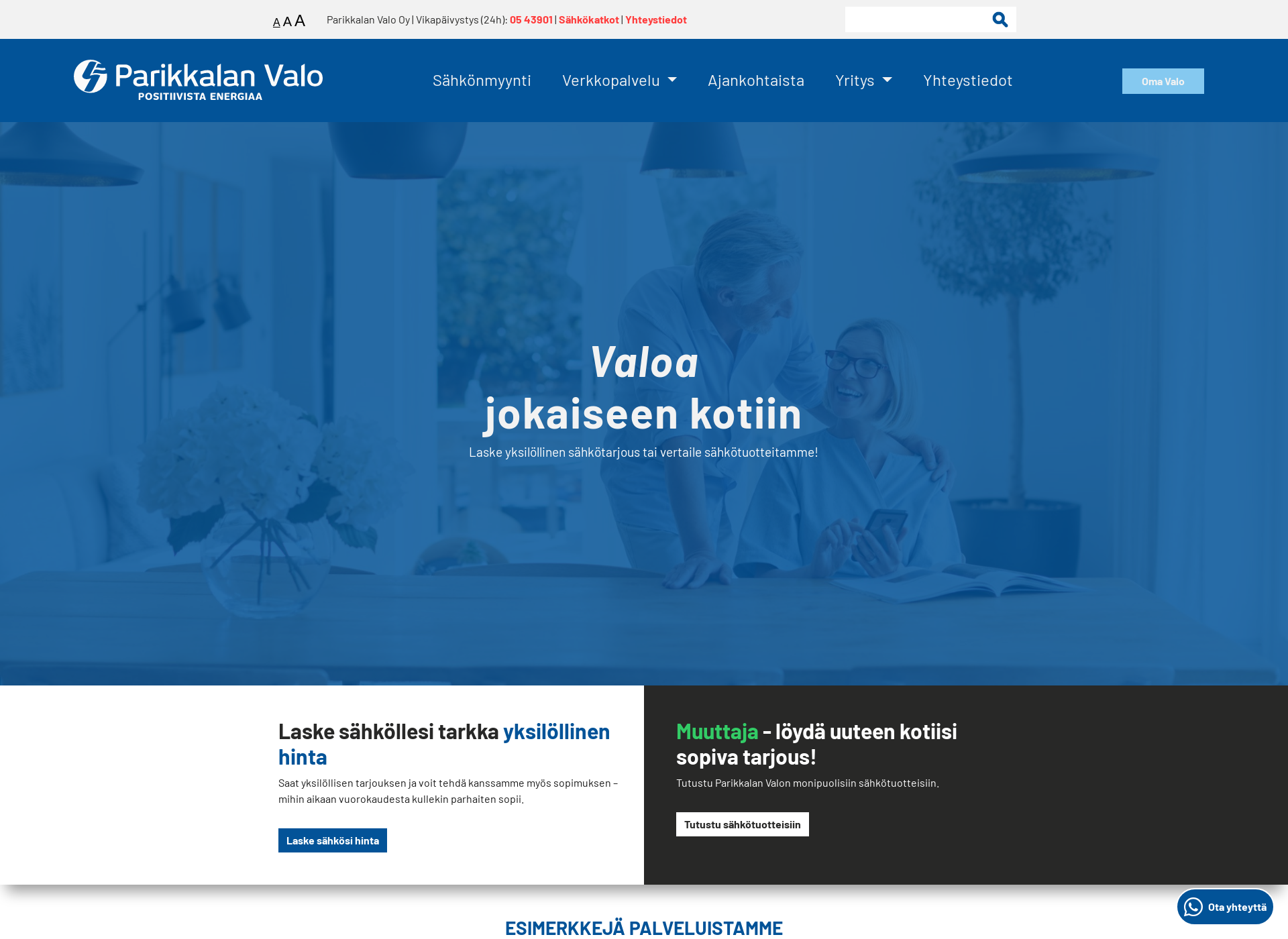 Screenshot for parikkalanvalo.fi