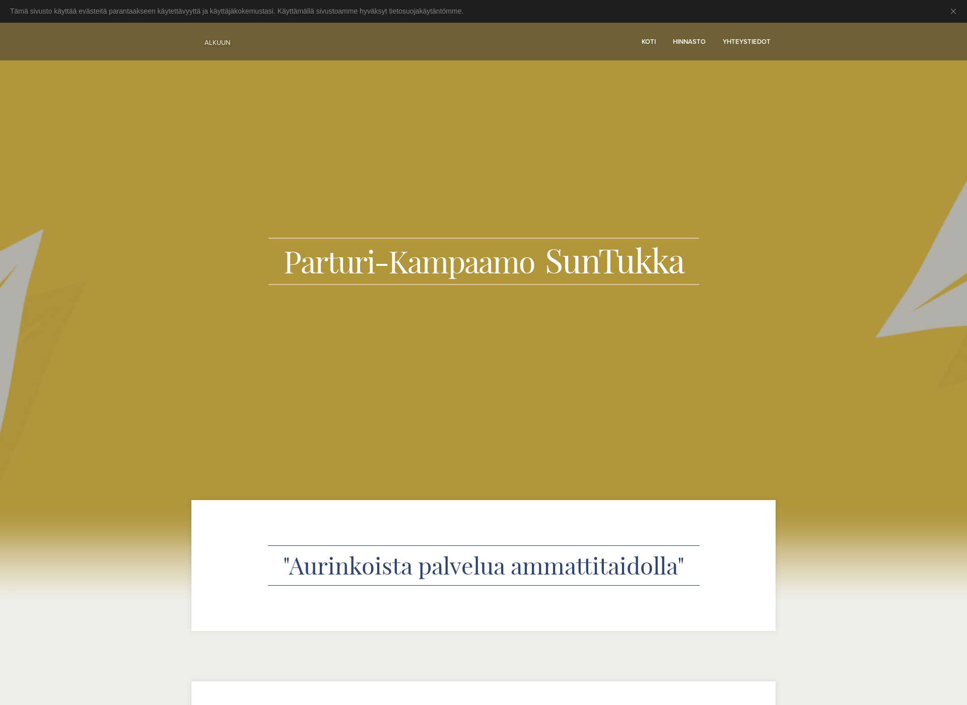 Screenshot for parturikampaamosuntukka.fi