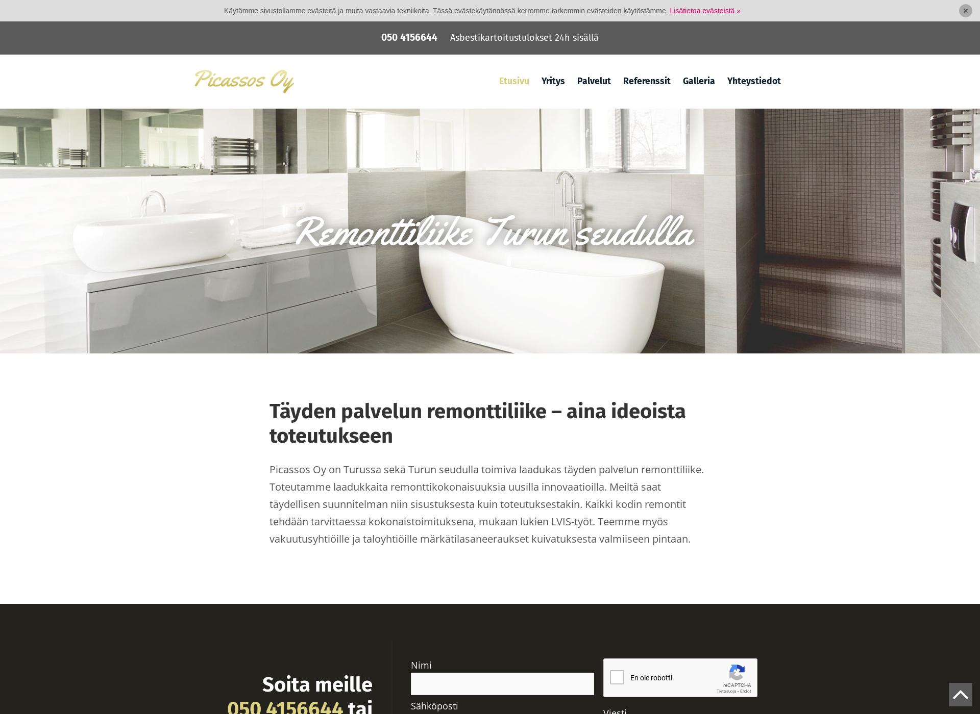 Screenshot for picassos.fi
