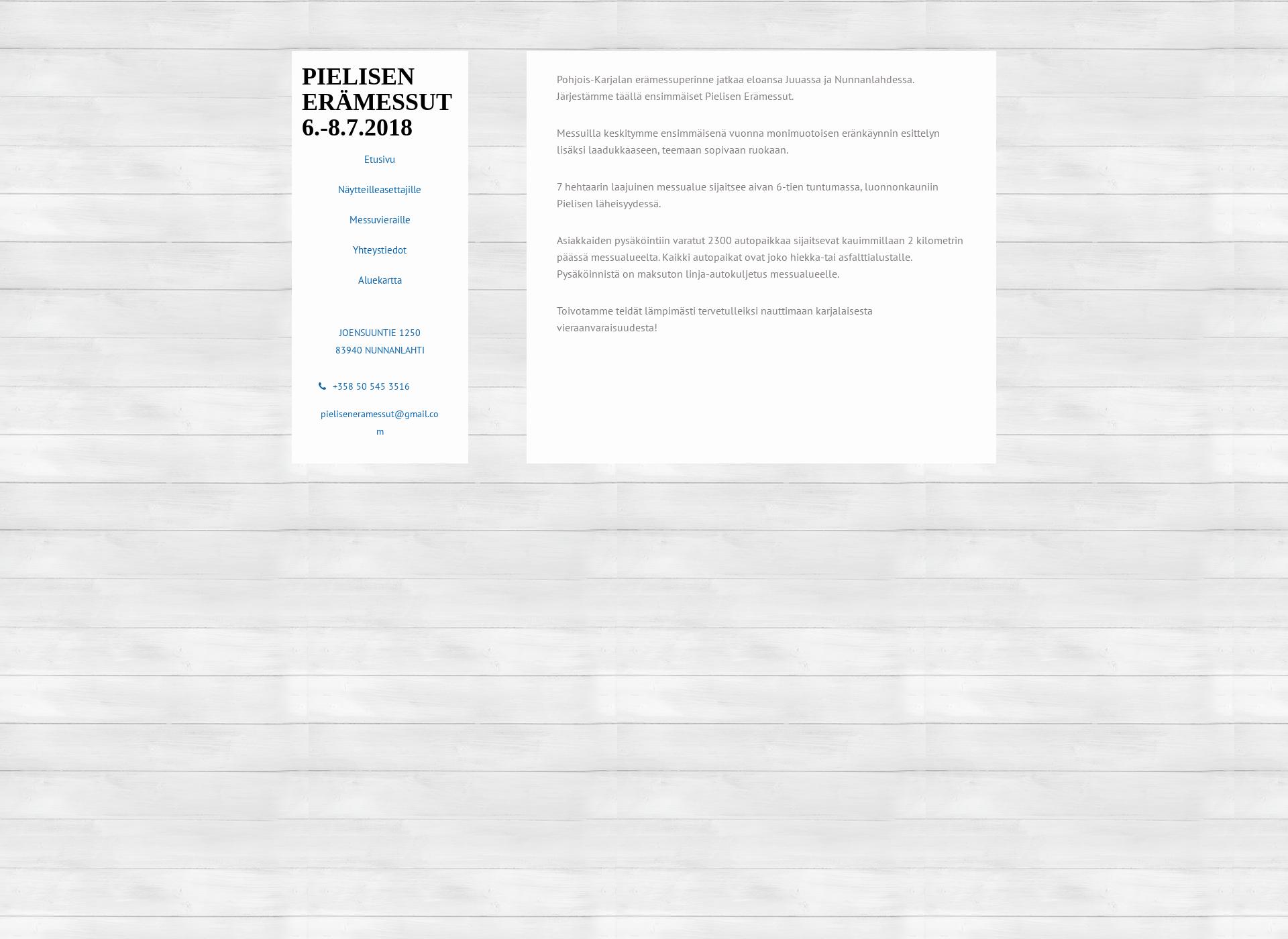 Screenshot for pieliseneramessut.fi