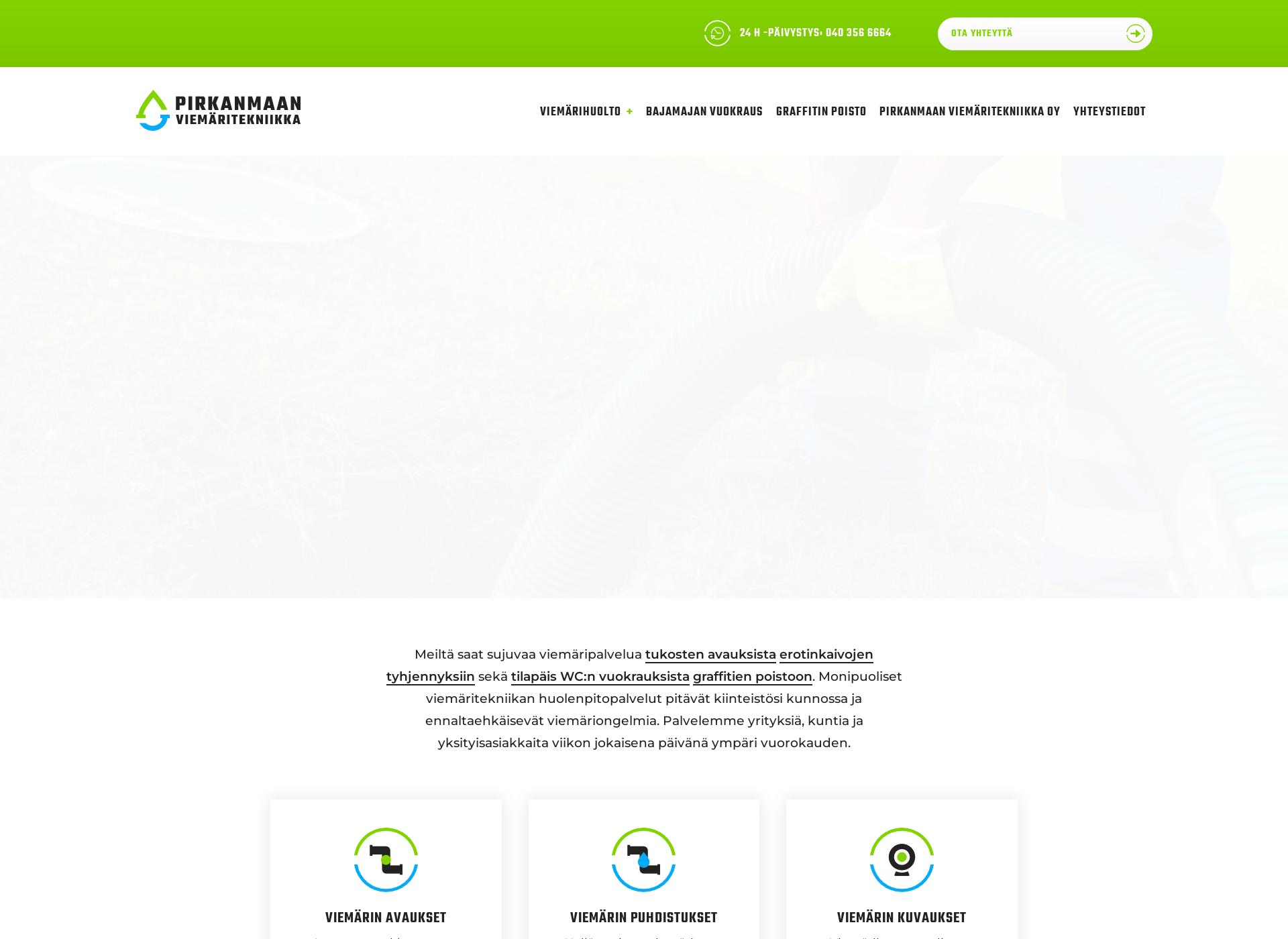 Screenshot for pirkanmaanviemaritekniikka.fi