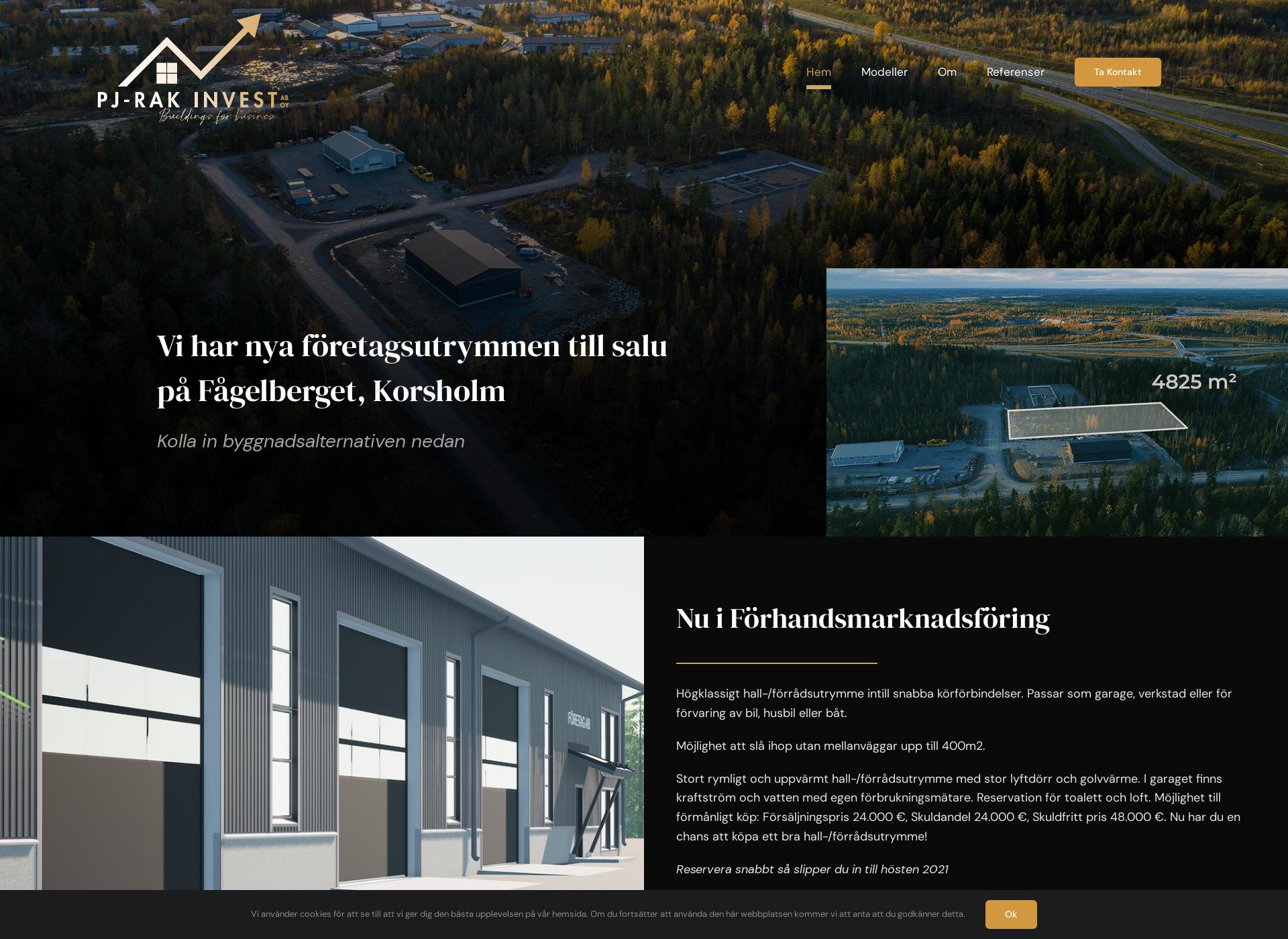 Screenshot for pj-rak.fi