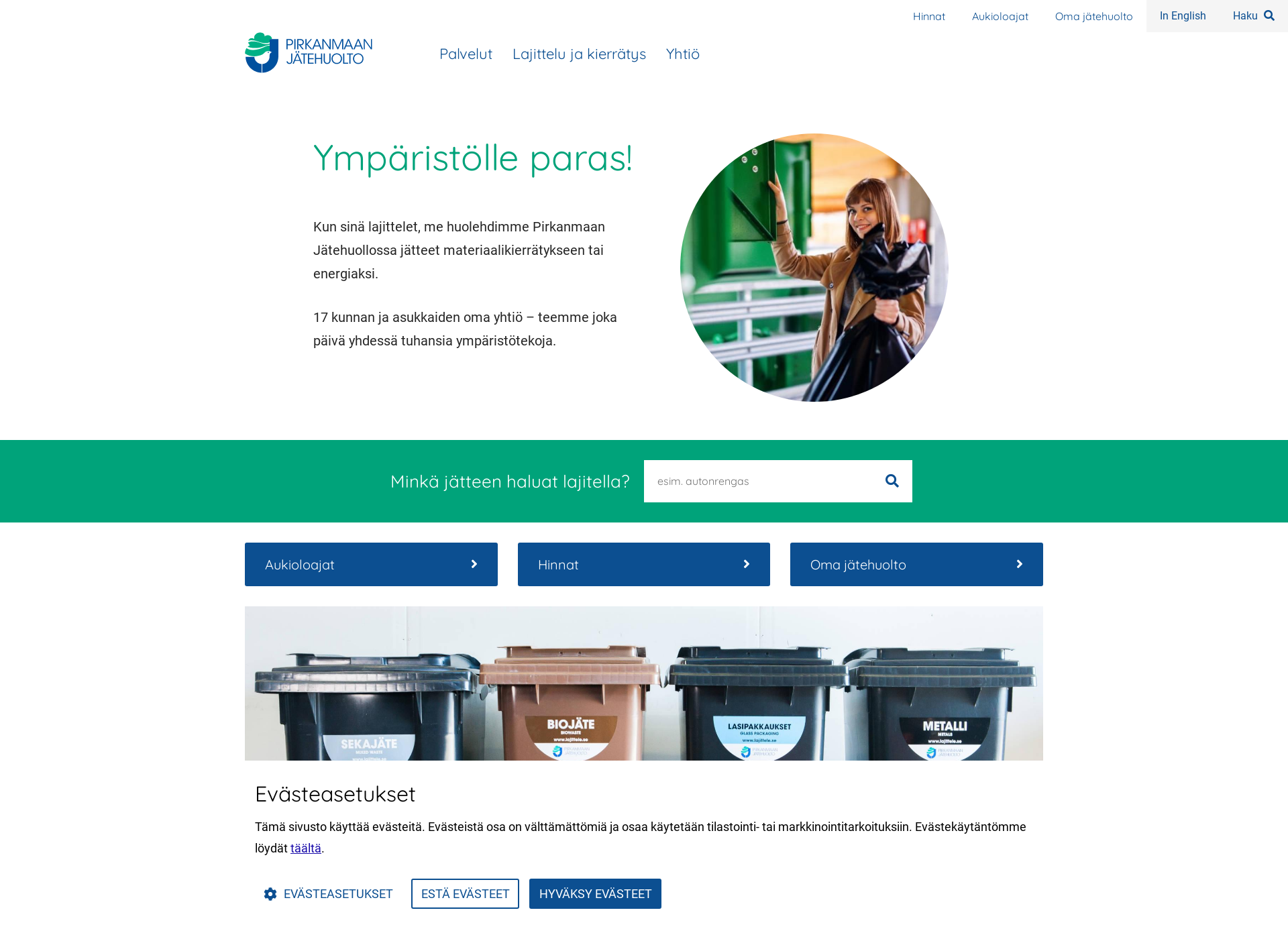 Screenshot for pjhoy.fi