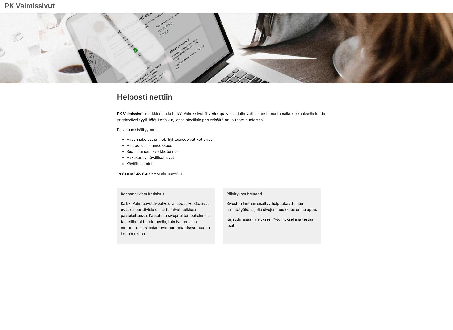 Screenshot for pk-valmissivut.fi