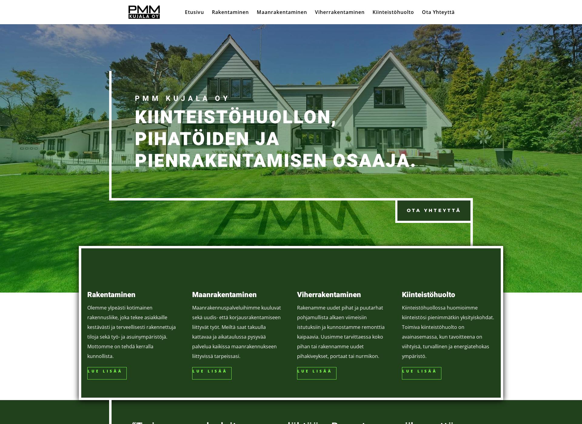 Screenshot for pmm-kujala.fi