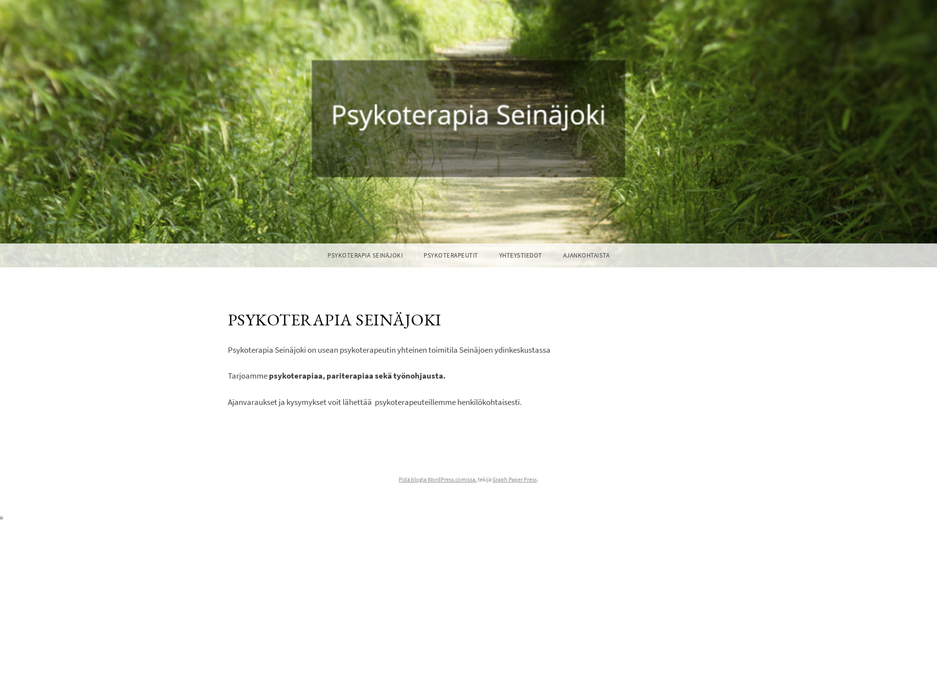 Screenshot for psykoterapia-seinajoki.fi