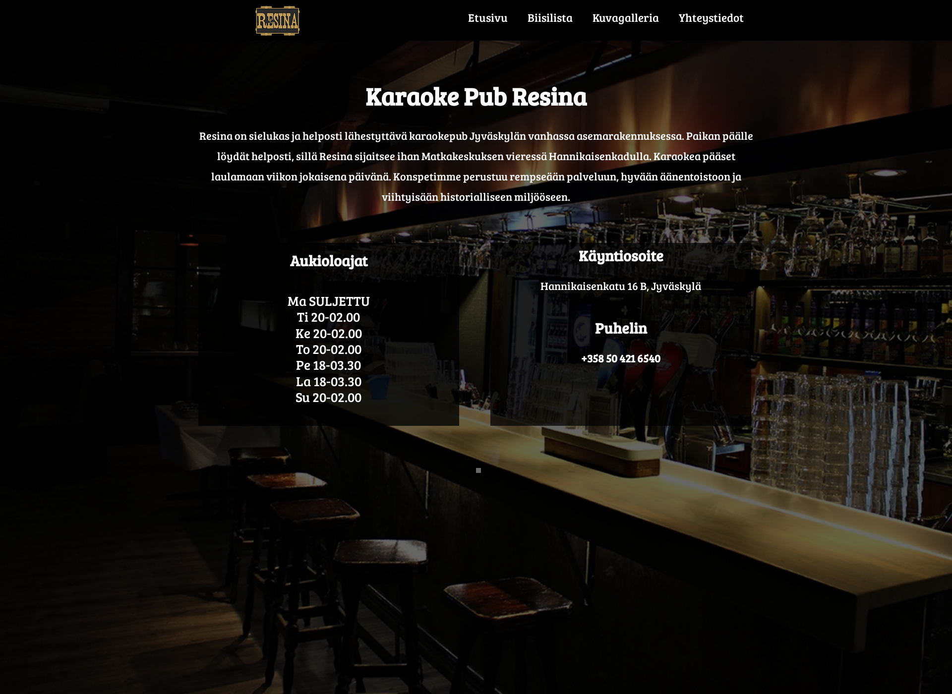 Screenshot for pubresina.fi