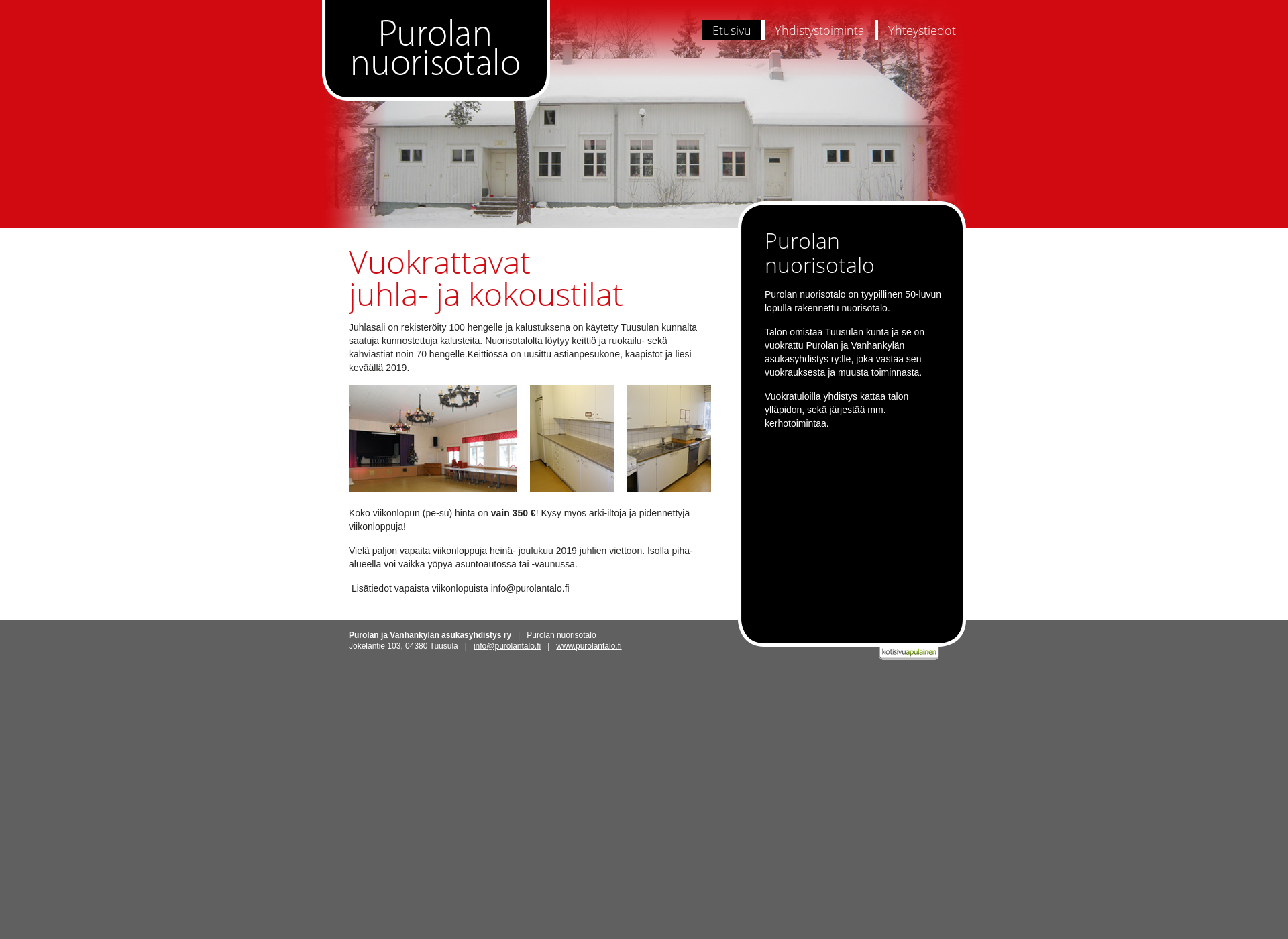 Screenshot for purolantalo.fi