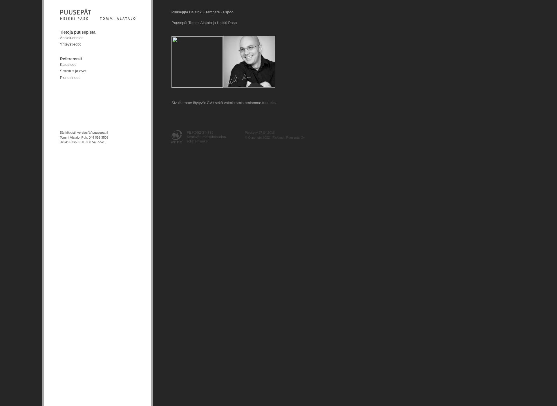 Screenshot for puusepat.fi