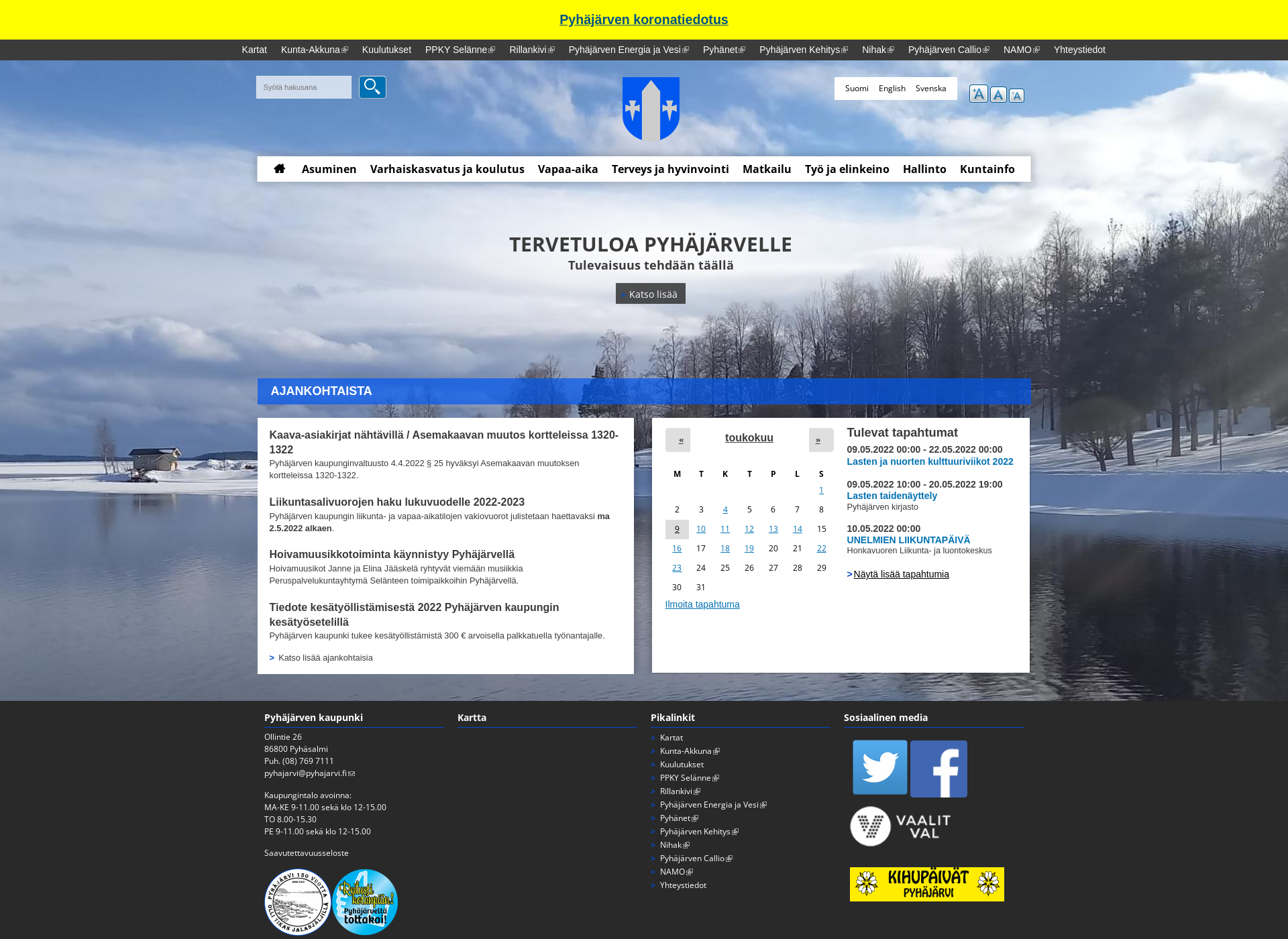 Screenshot for pyhajarvi.fi