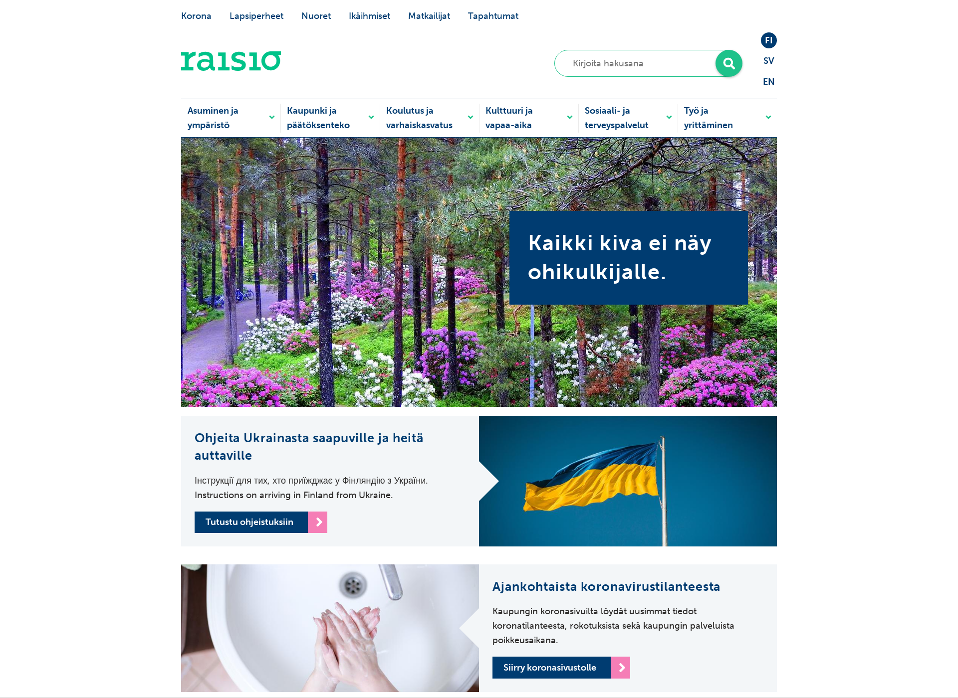 Screenshot for raisio.fi