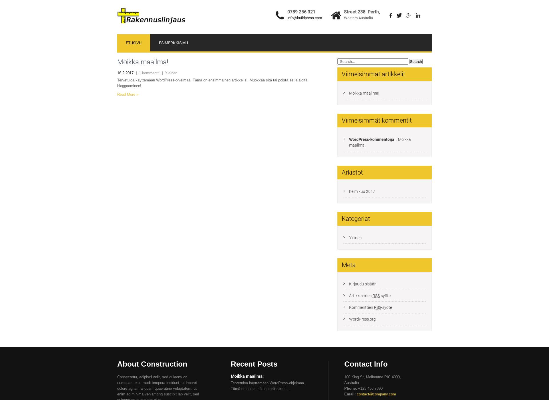 Screenshot for rakennuslinjaus.fi