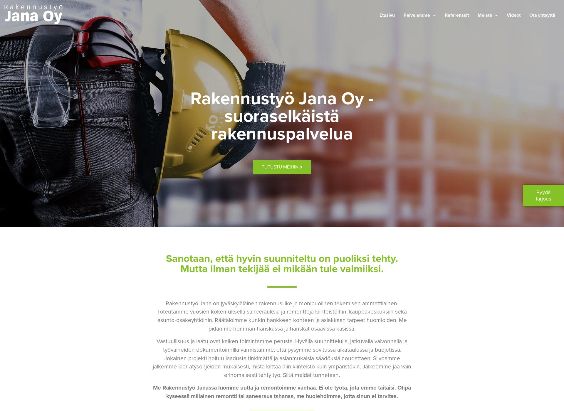 Screenshot for rakennustyojana.fi