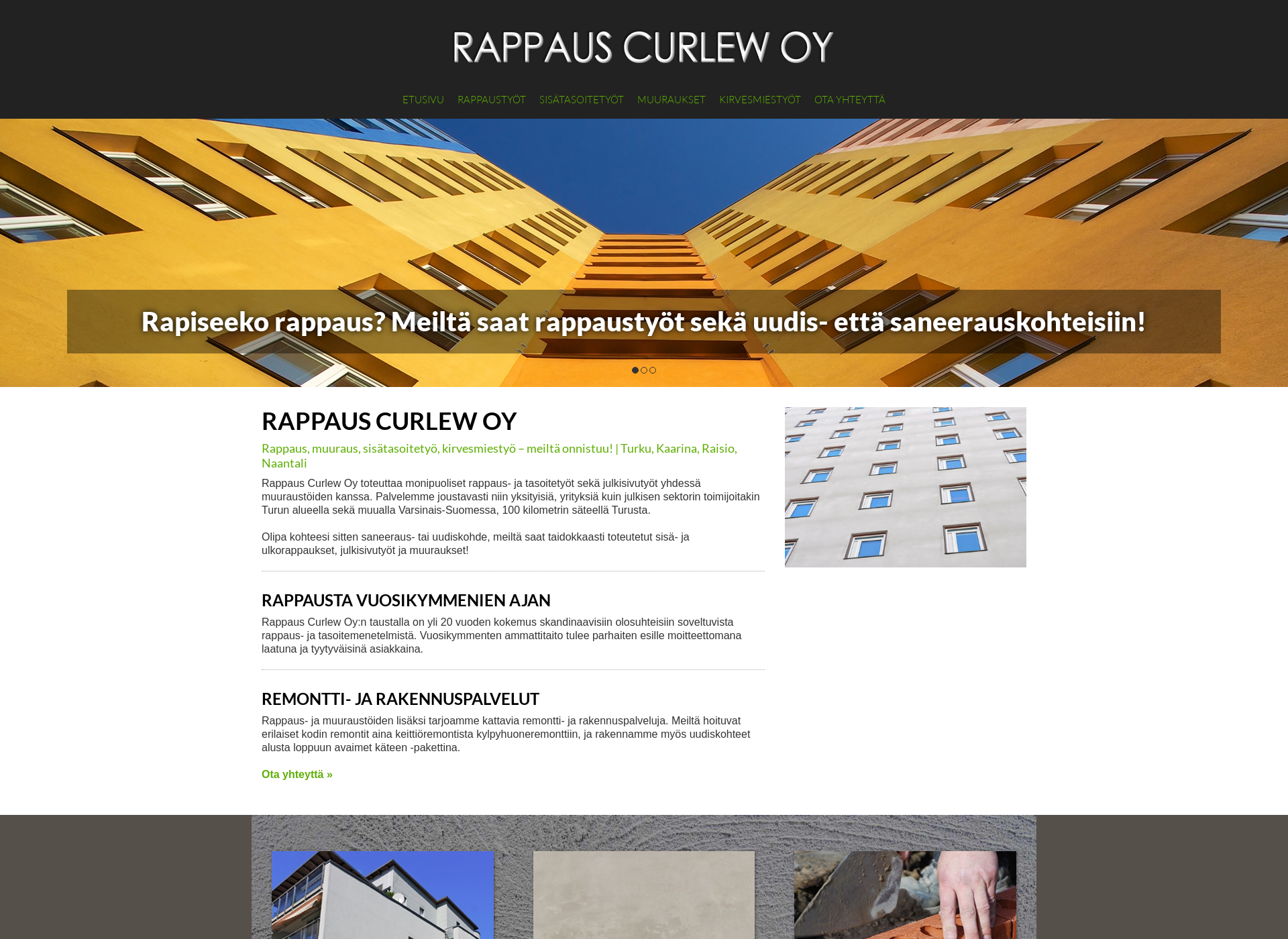 Screenshot for rappauscurlew.fi